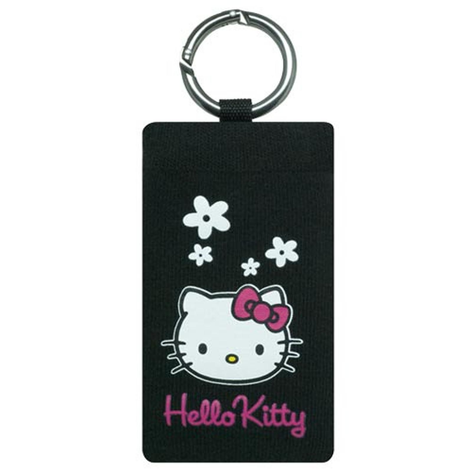 Hello Kitty - Chaussette fleur Hello Kitty (coloris noir)