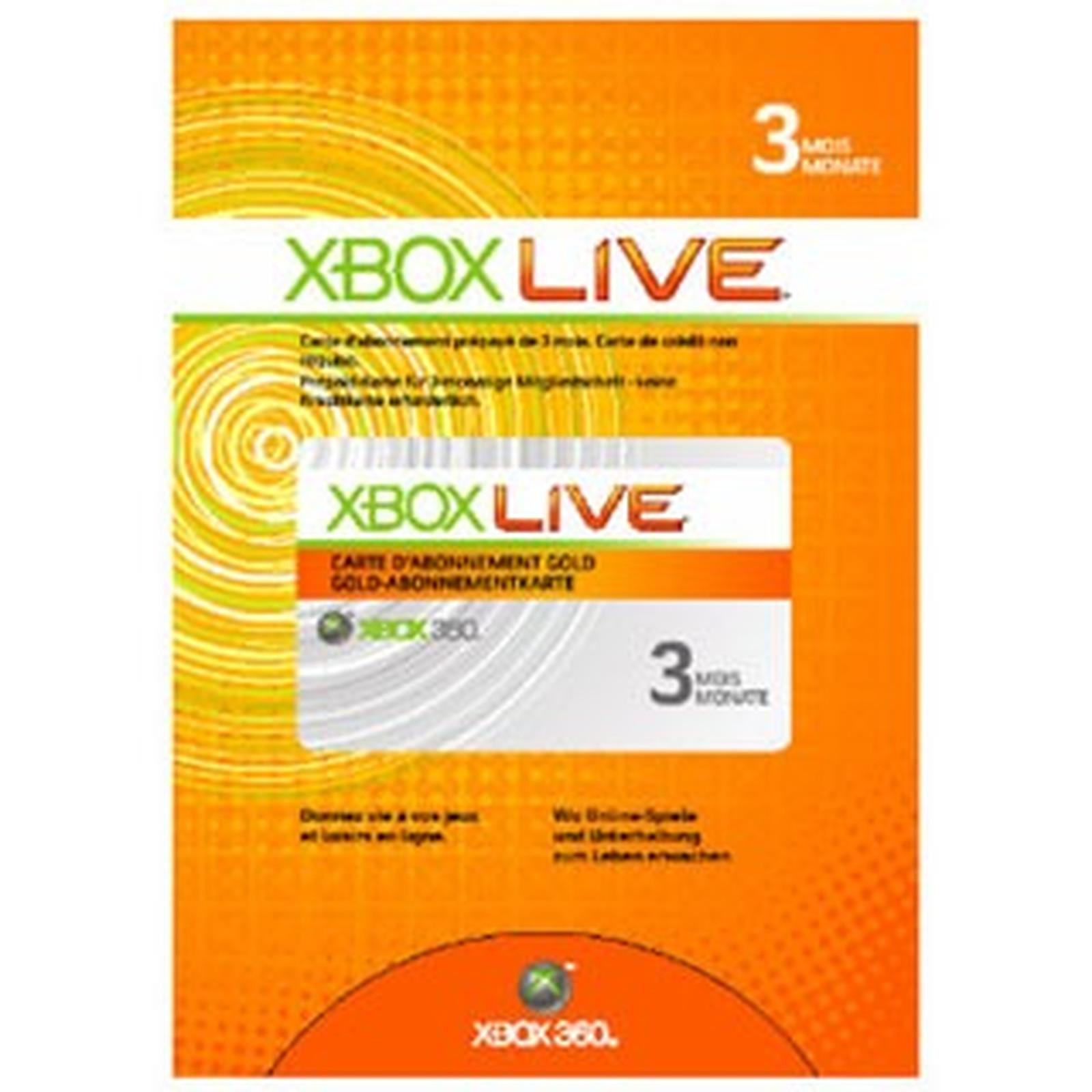Microsoft Carte d'abonnement Xbox Live de 3 mois (Xbox 360)