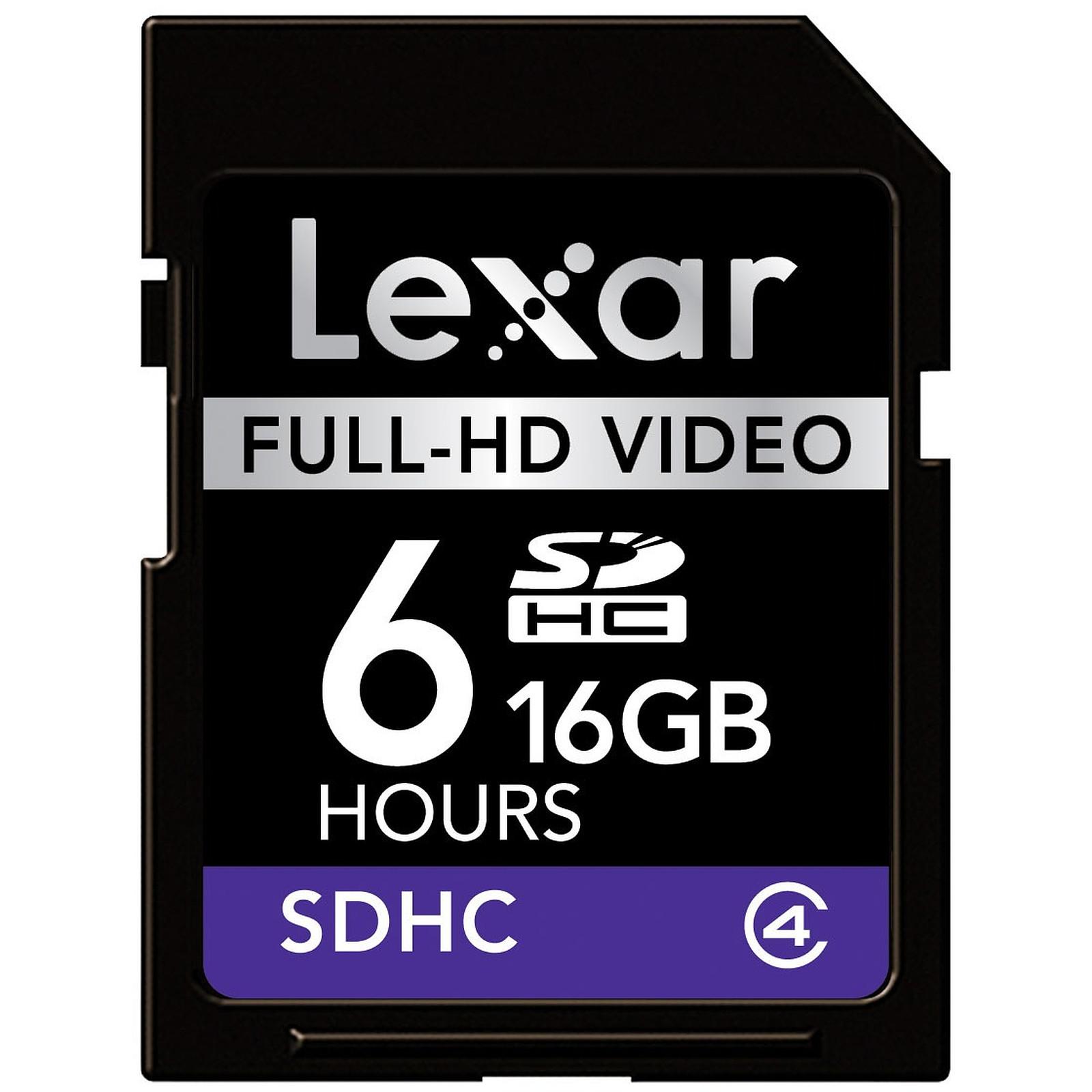 Lexar Carte SDHC Full-HD Video - 16 Go
