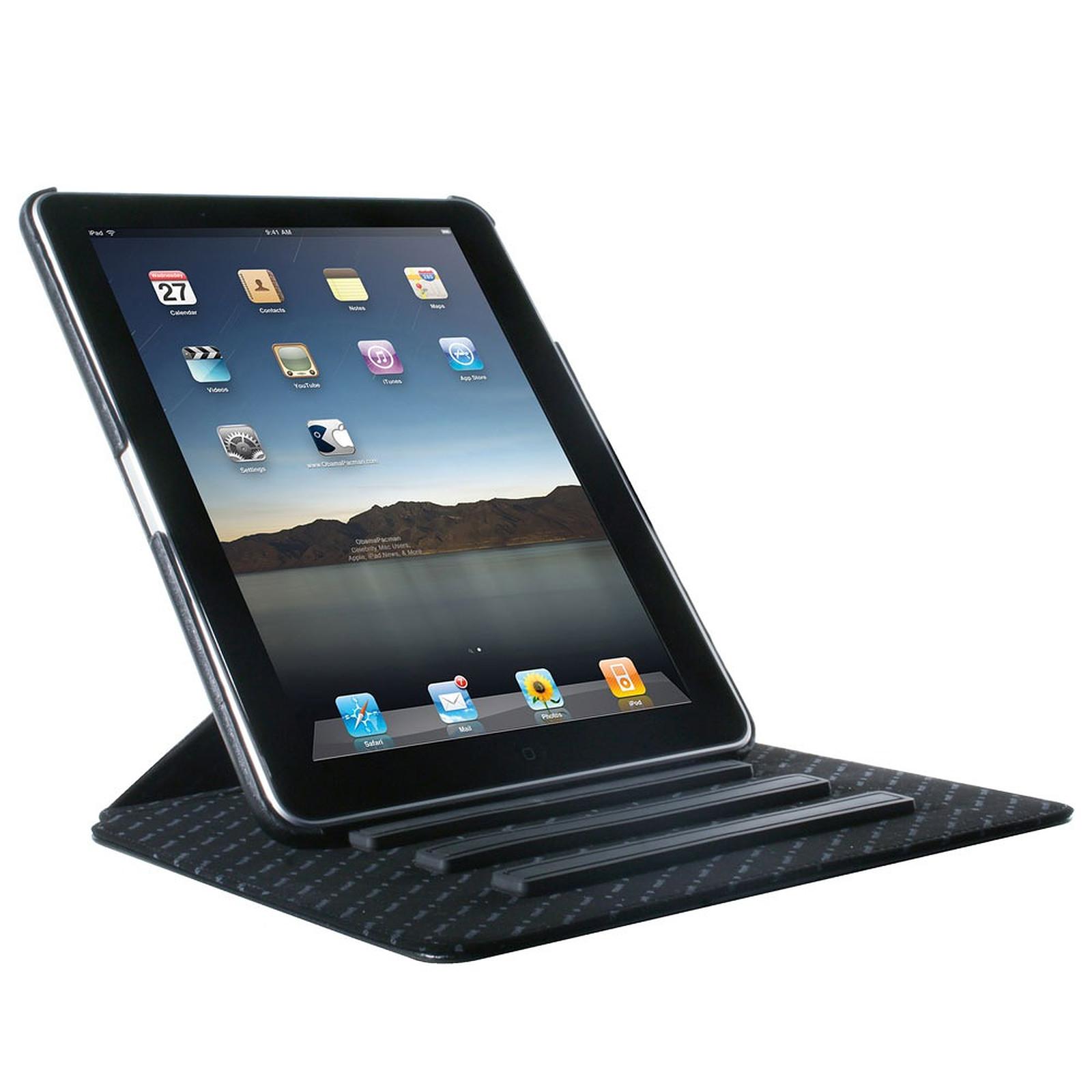 MCA Housse en cuir avec socle rotatif pour iPad