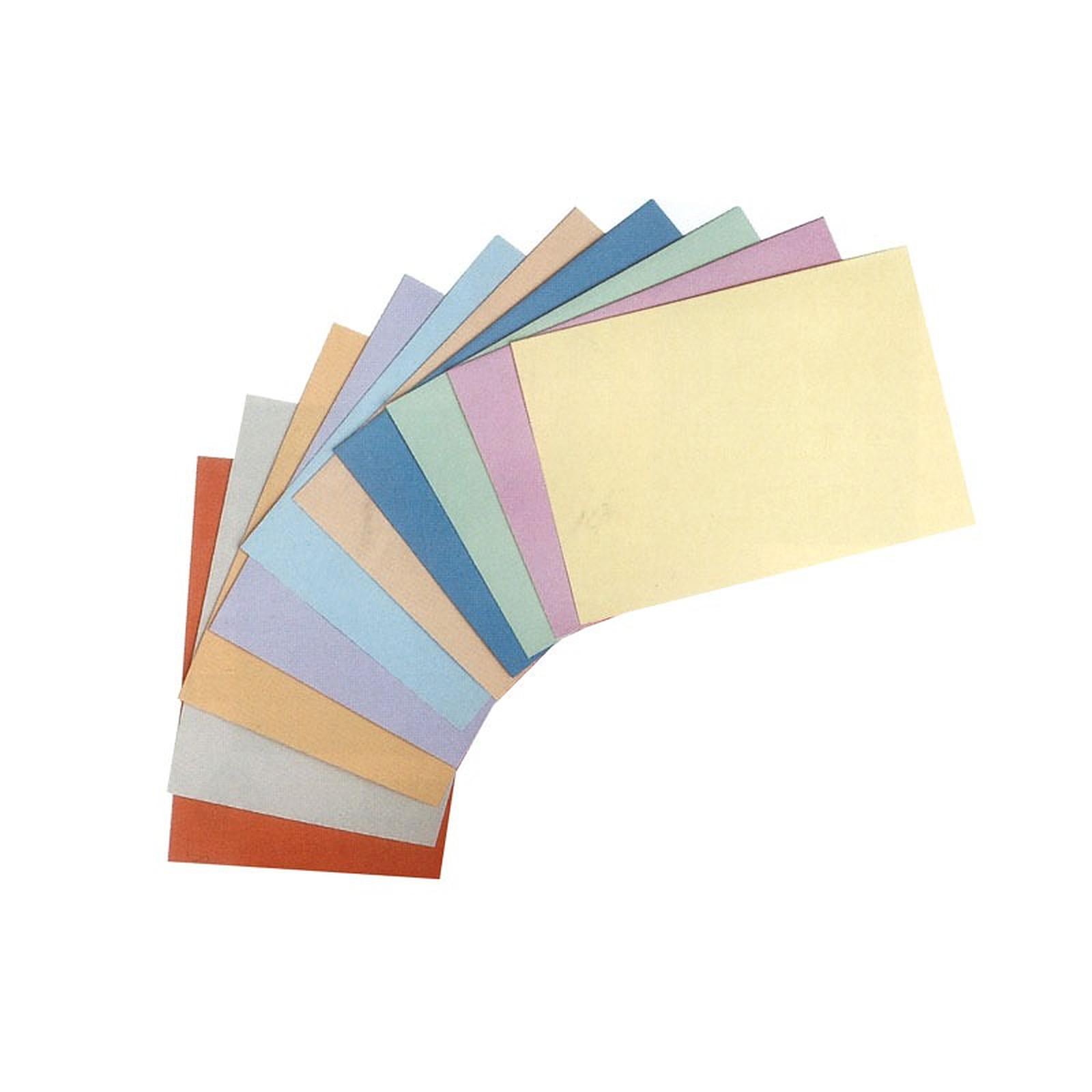 Rainex 30 Sous-chemises 22 x 31 cm 80 g - 10 coloris assortis