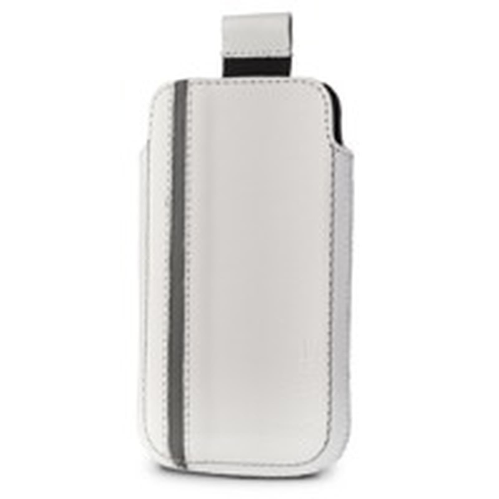 Valenta Pocket Sport - Etui en cuir blanc/gris