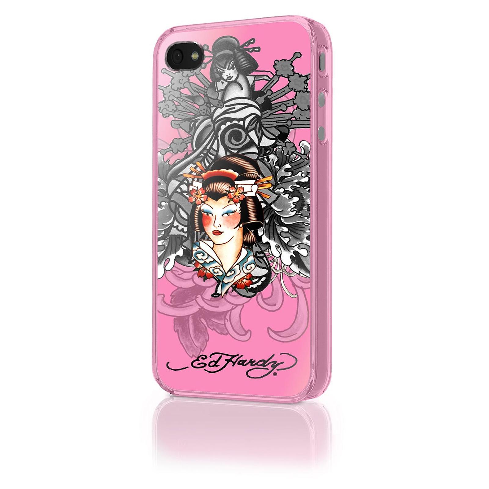 "Ed Hardy - Faceplate iPhone 4 ""Geisha Pink"""
