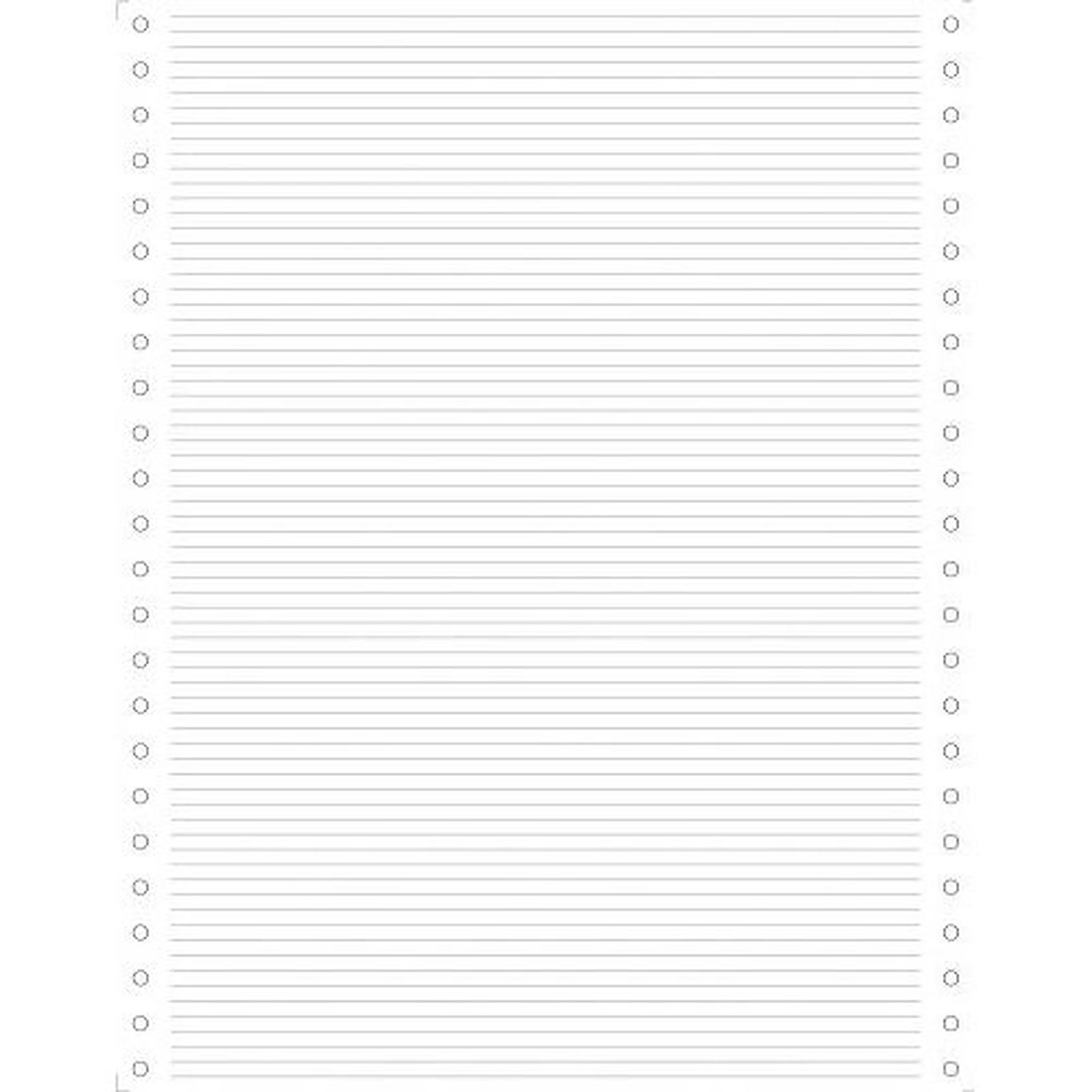 Exacompta Papier listing zoné vert 70g 2500 plis