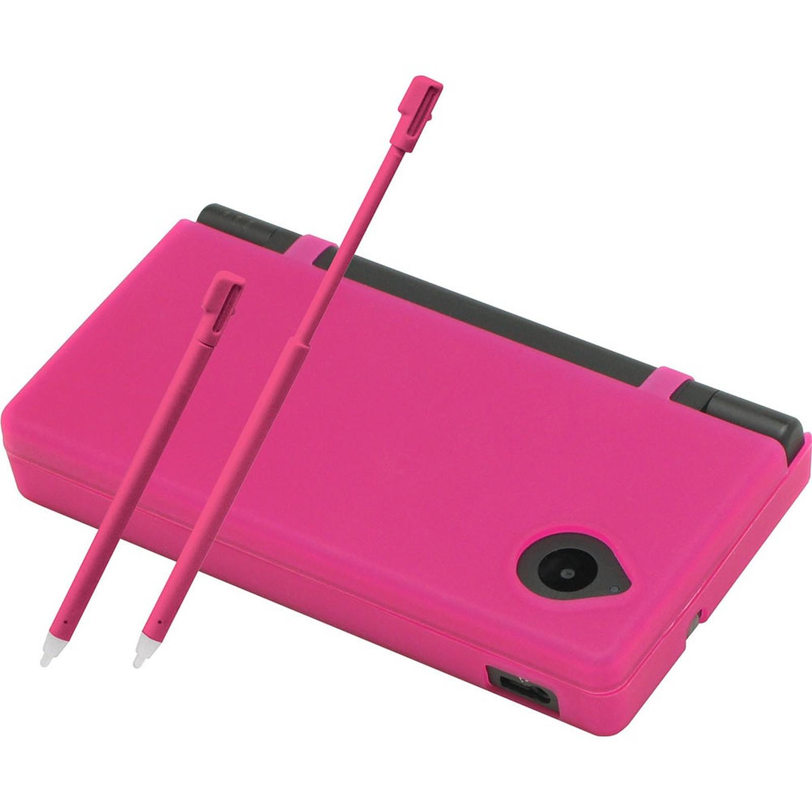 Hori coque silicone + 2 stylets rose (Nintendo DSi)