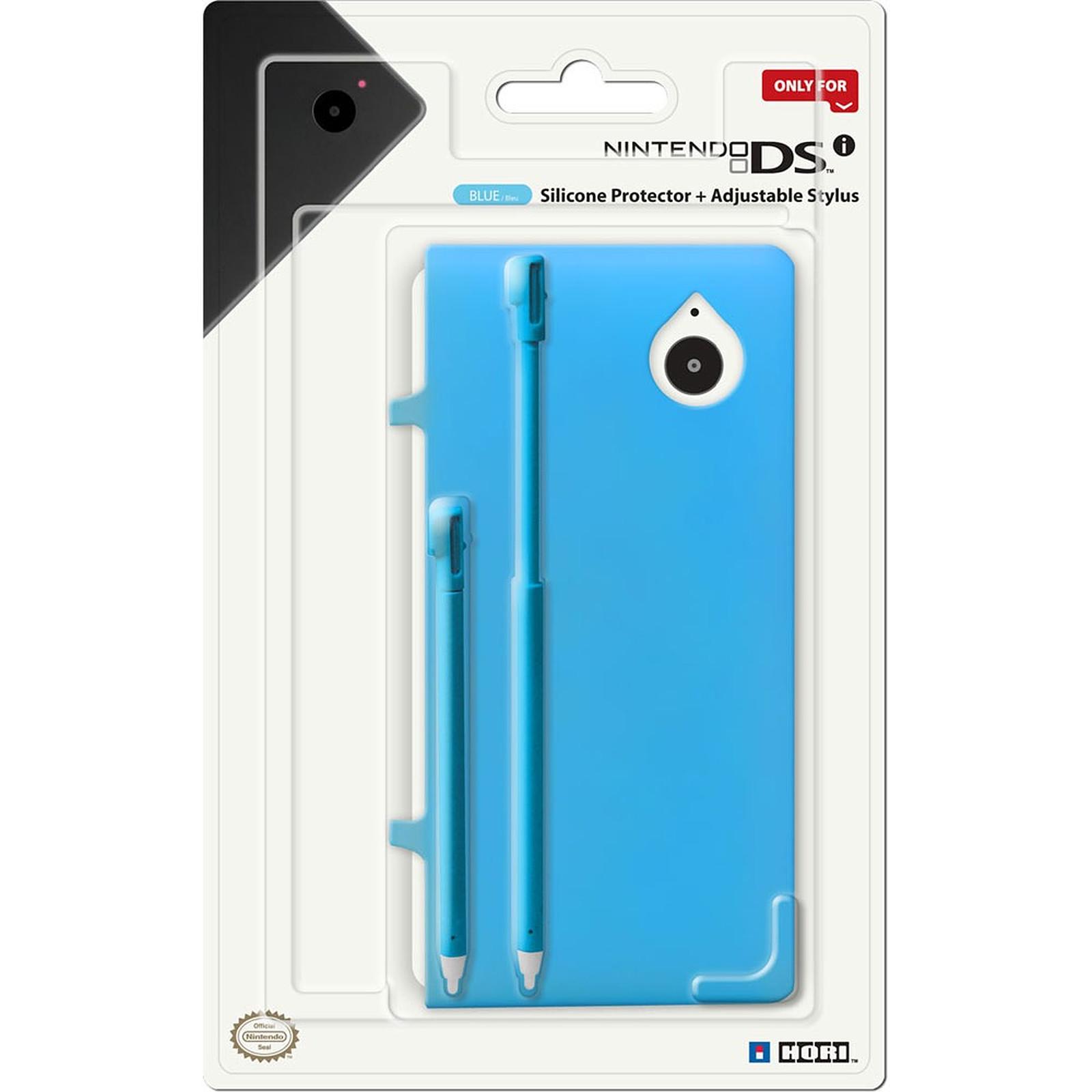 Hori coque silicone + 2 stylets bleu (Nintendo DSi)