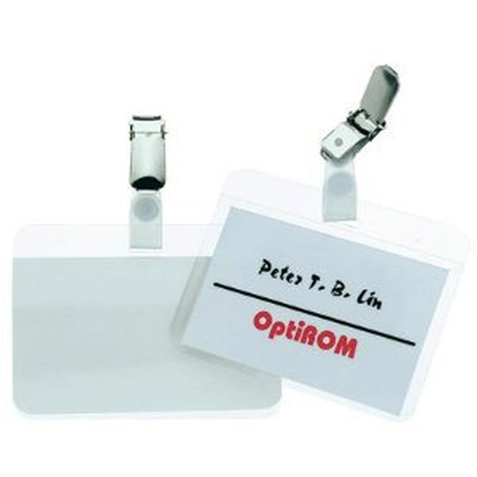 Durable Badge autoplastifiable avec clip 5,4 x 9 cm