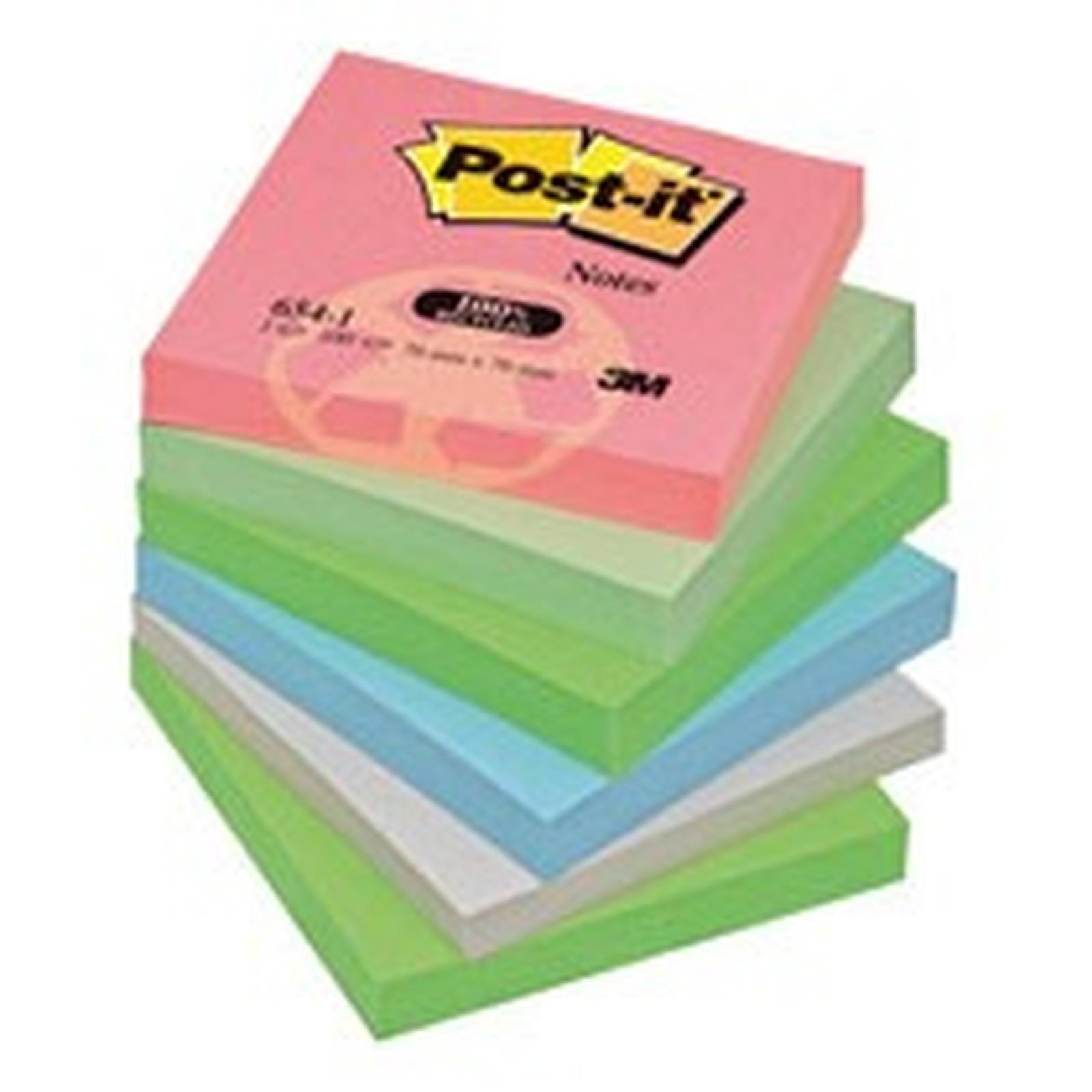 Post-it recyclés 12 blocs de 100 feuillets multicolores 76 x 76 mm