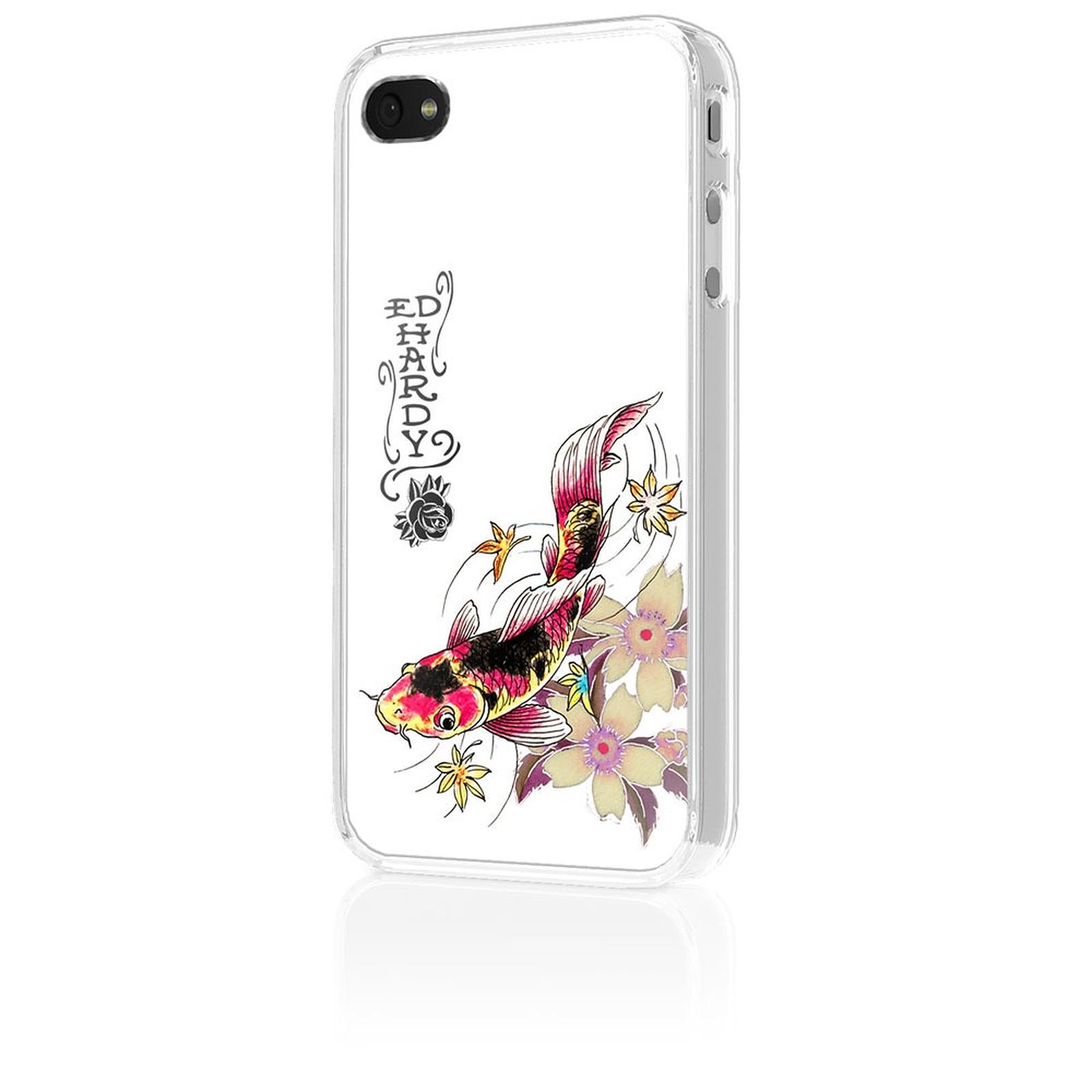 "Ed Hardy - Faceplate iPhone 4 ""Koi"" White"