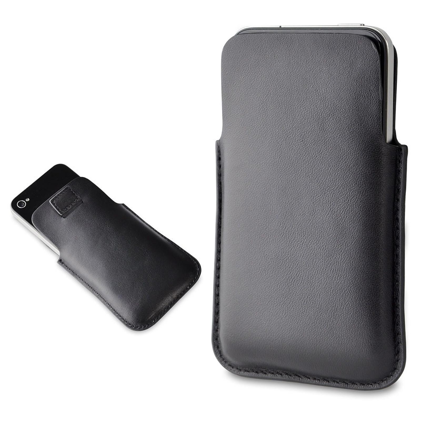Muvit Etui Pocket Slim cuir Noir (pour iPhone 4)