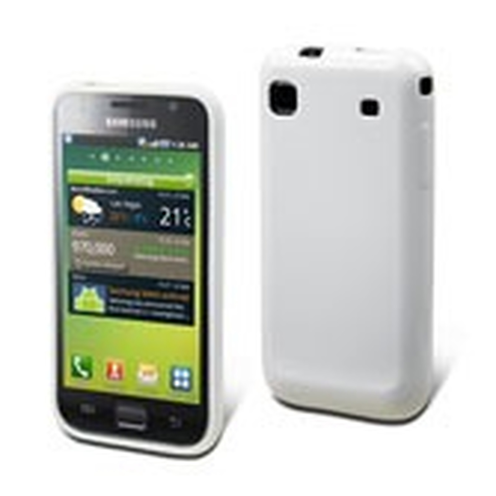 Muvit Housse minigel Blanc (pour Samsung i9000 Galaxy S)