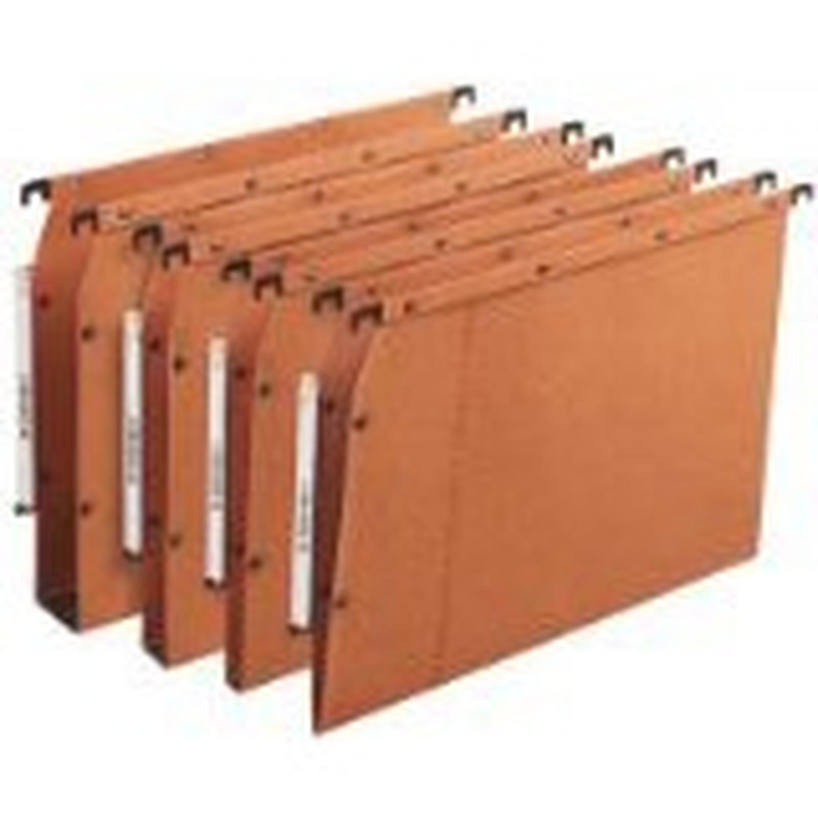 L'oblique 25 Dossiers suspendus fond 50 mm 240 g coloris orange