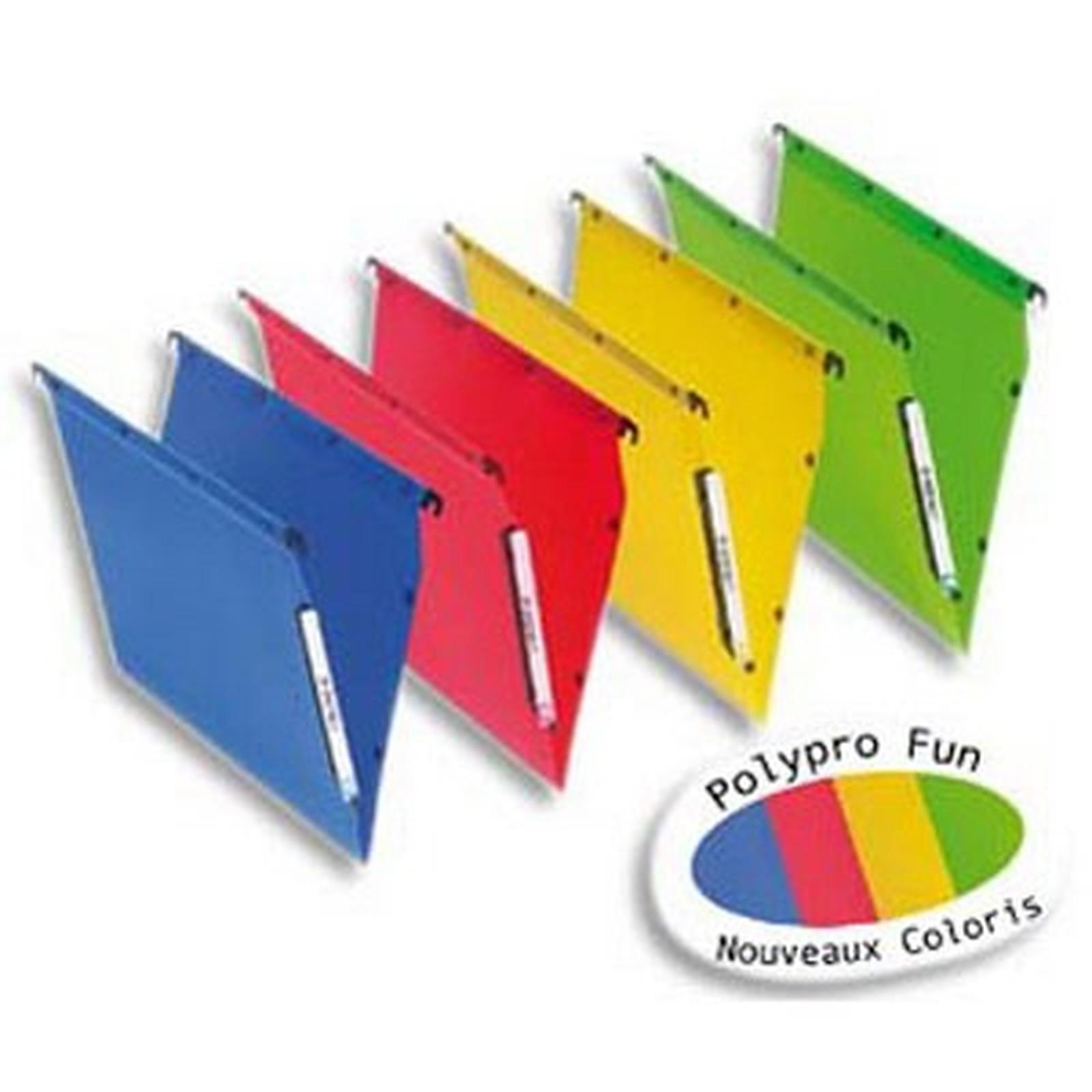 10 Dossiers suspendus fond 15 mm coloris assoris