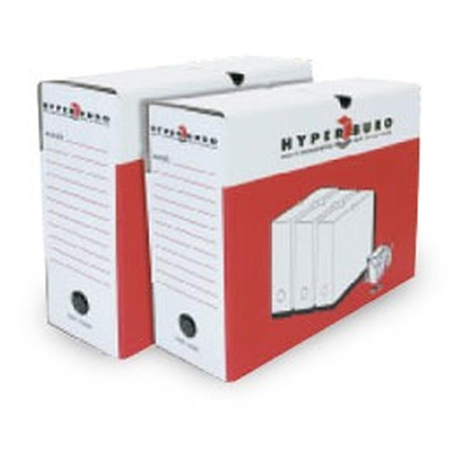 HYPERBURO 10 boîtes à archives 33 x 25 cm dos 10 cm