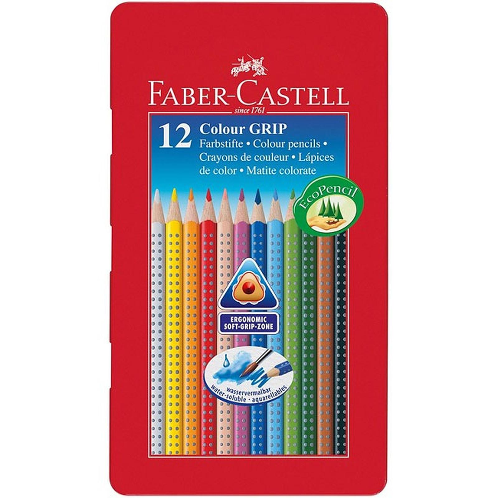 Faber-Castell - Etui de 12 crayons de couleur