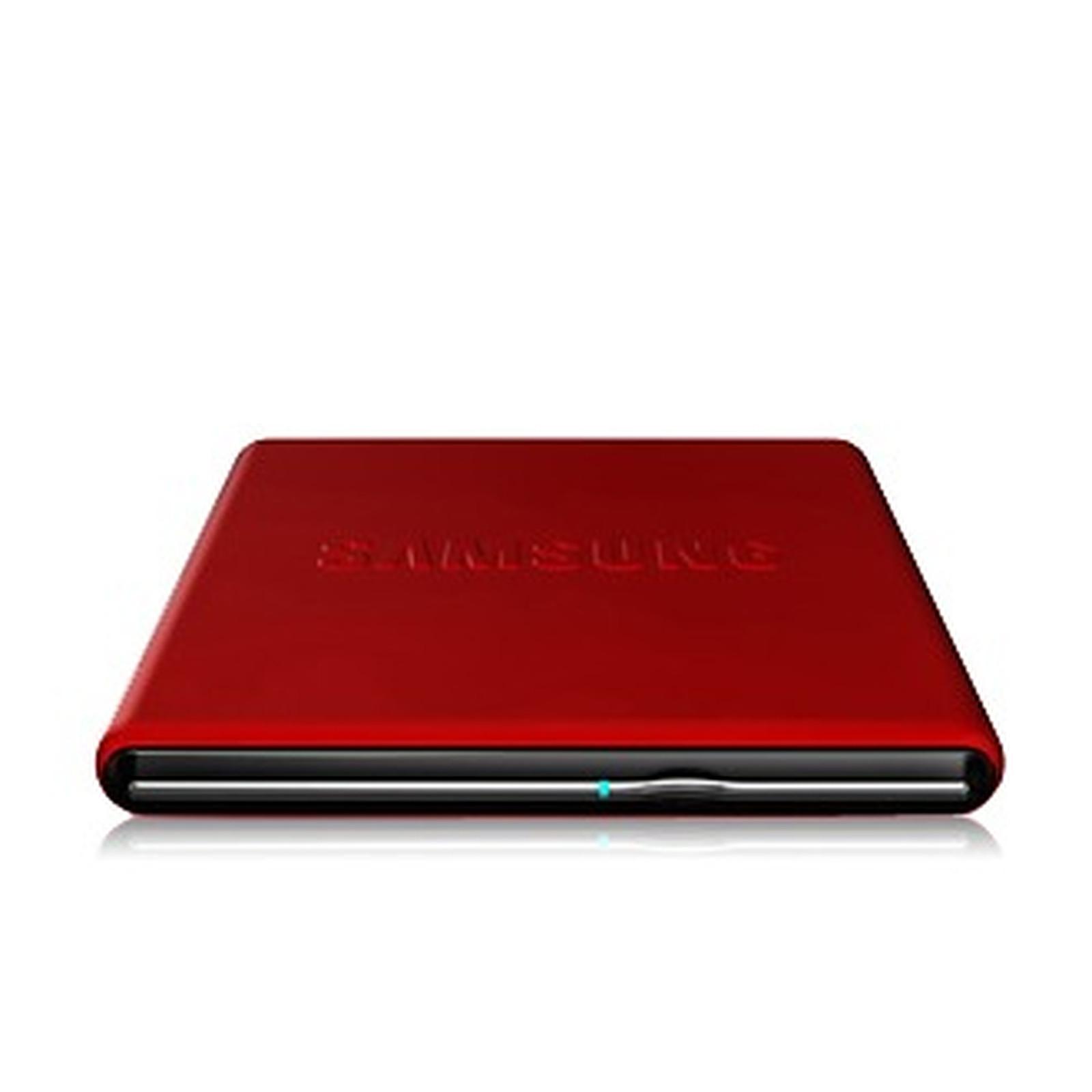 Samsung SE-S084D/TSRS - Graveur DVD externe rouge