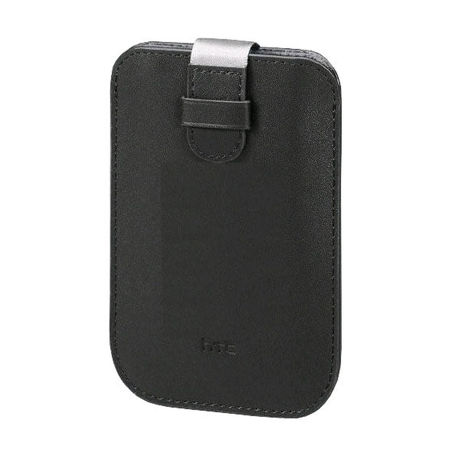 HTC PO S530 - Housse en cuir noir pour Wildfire & HD Mini