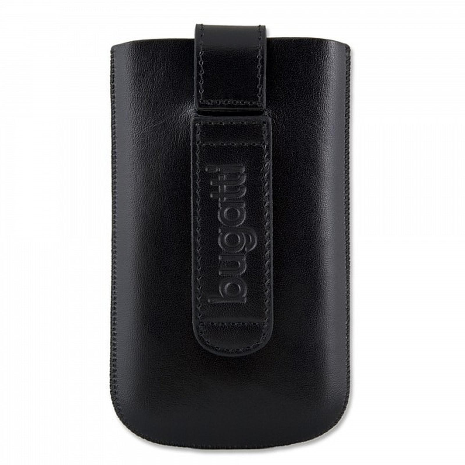 Bugatti SlimCase M noir - Etui en cuir universel (pour téléphones portables)