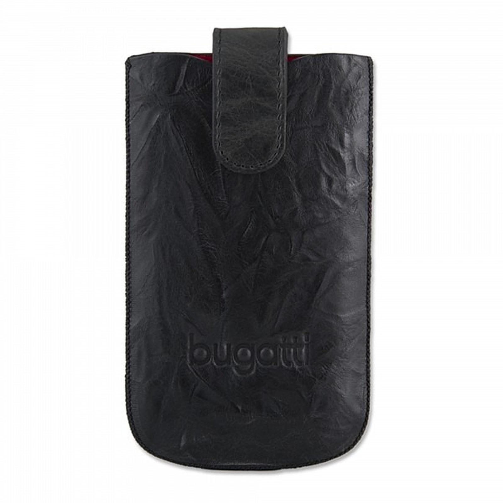 Bugatti SlimCase Unique M noir carbone - Etui en cuir universel (pour téléphones portables)