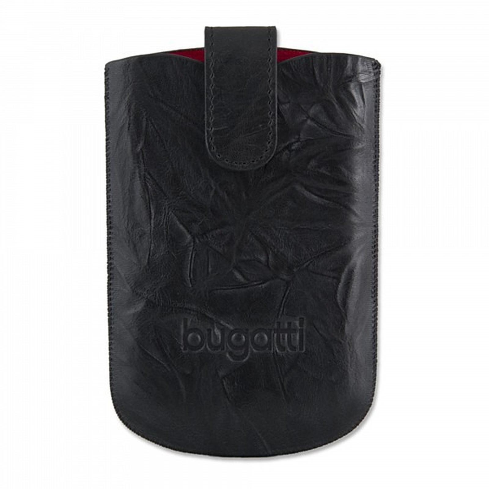 Bugatti SlimCase Unique L noir carbone - Etui en cuir universel (pour téléphones portables)