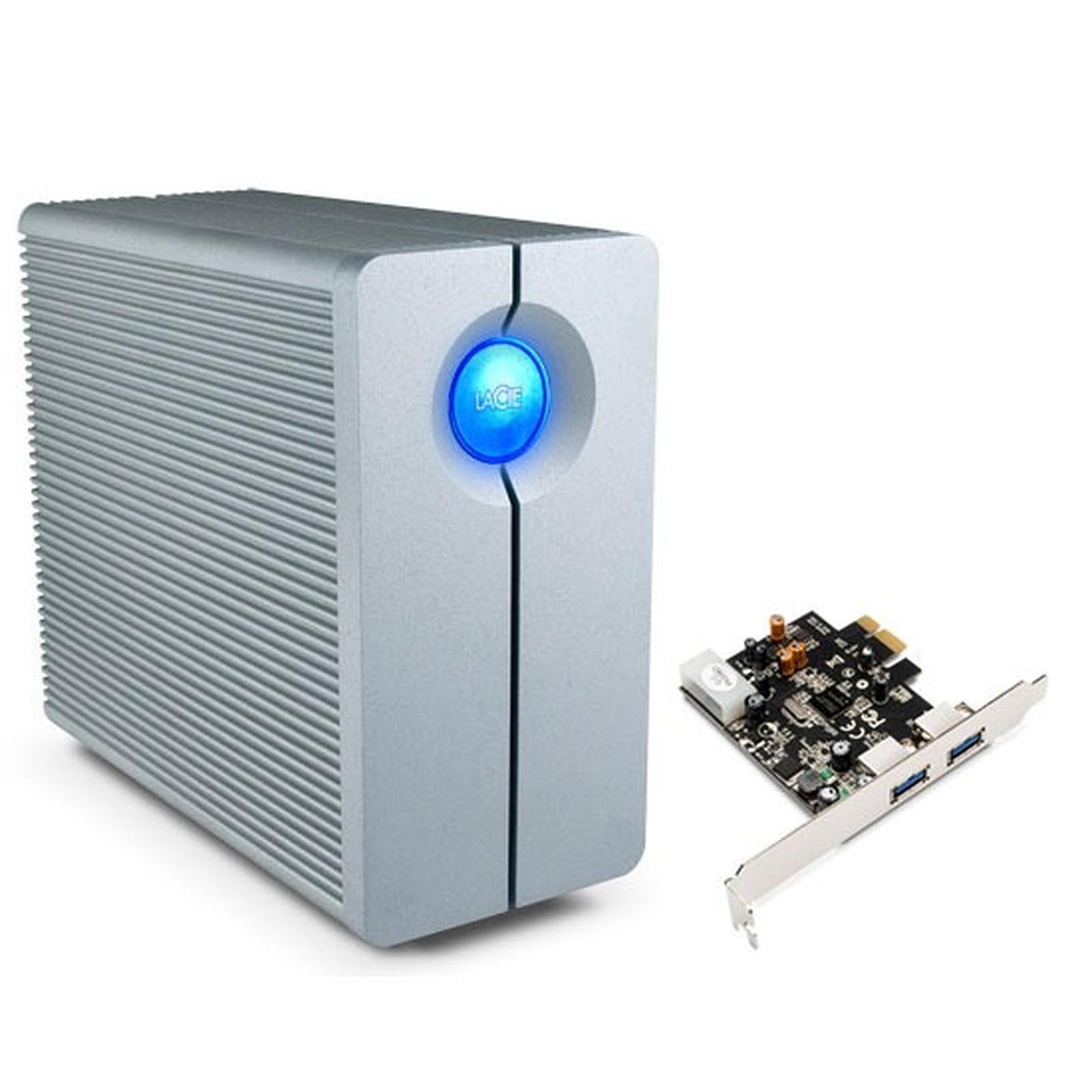 LaCie 2big 2 To (USB 3.0) + carte PCI-E (2x USB 3.0)