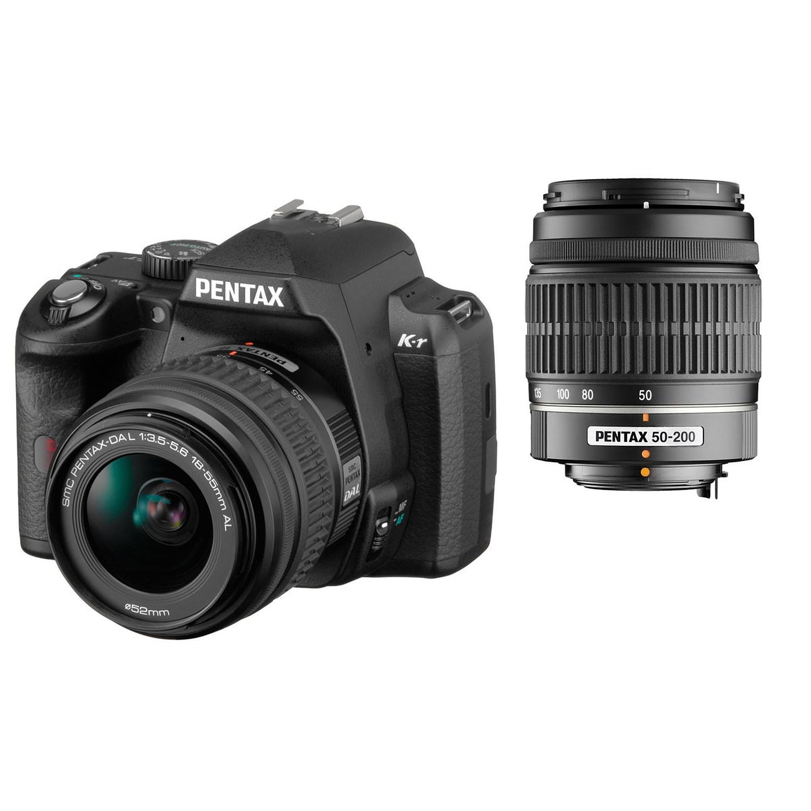 Pentax K-r + Objectif DA L 18-55mm + DA L 50-200mm Noir