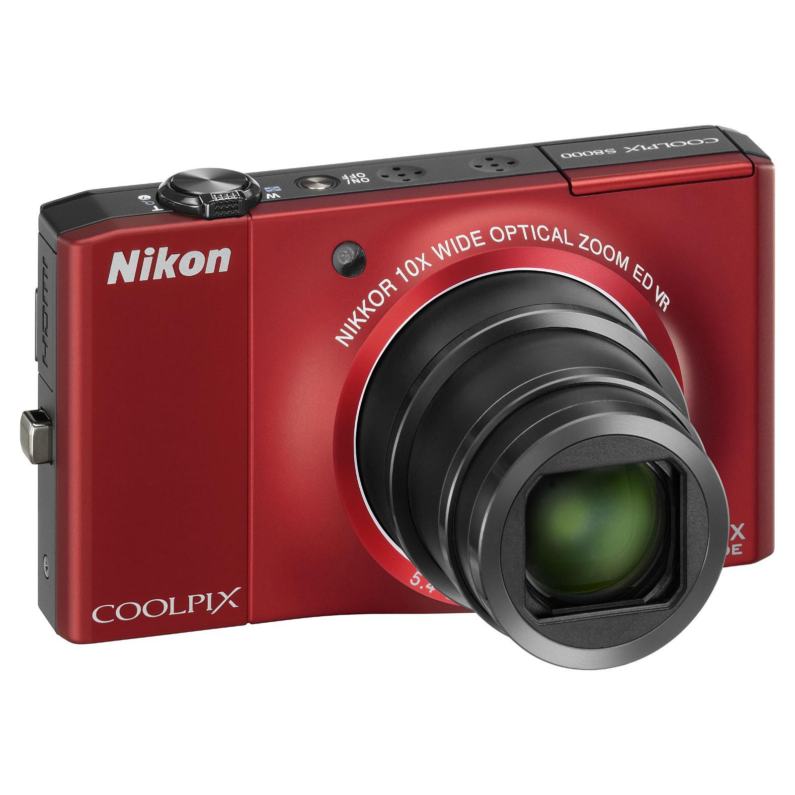 Nikon Coolpix S8000 Rouge