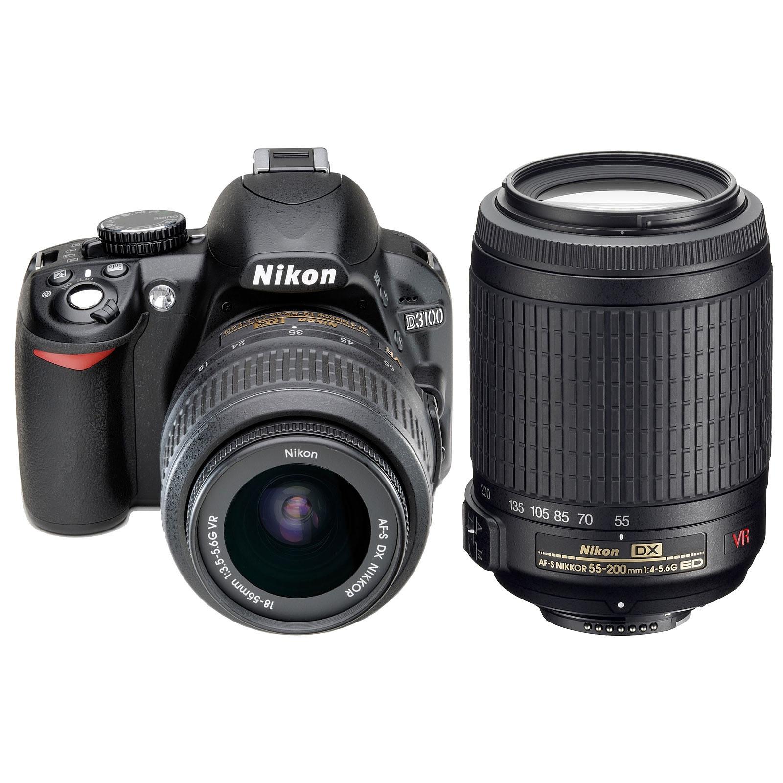 Nikon D3100 + 18-55 mm VR et 55-200 mm VR