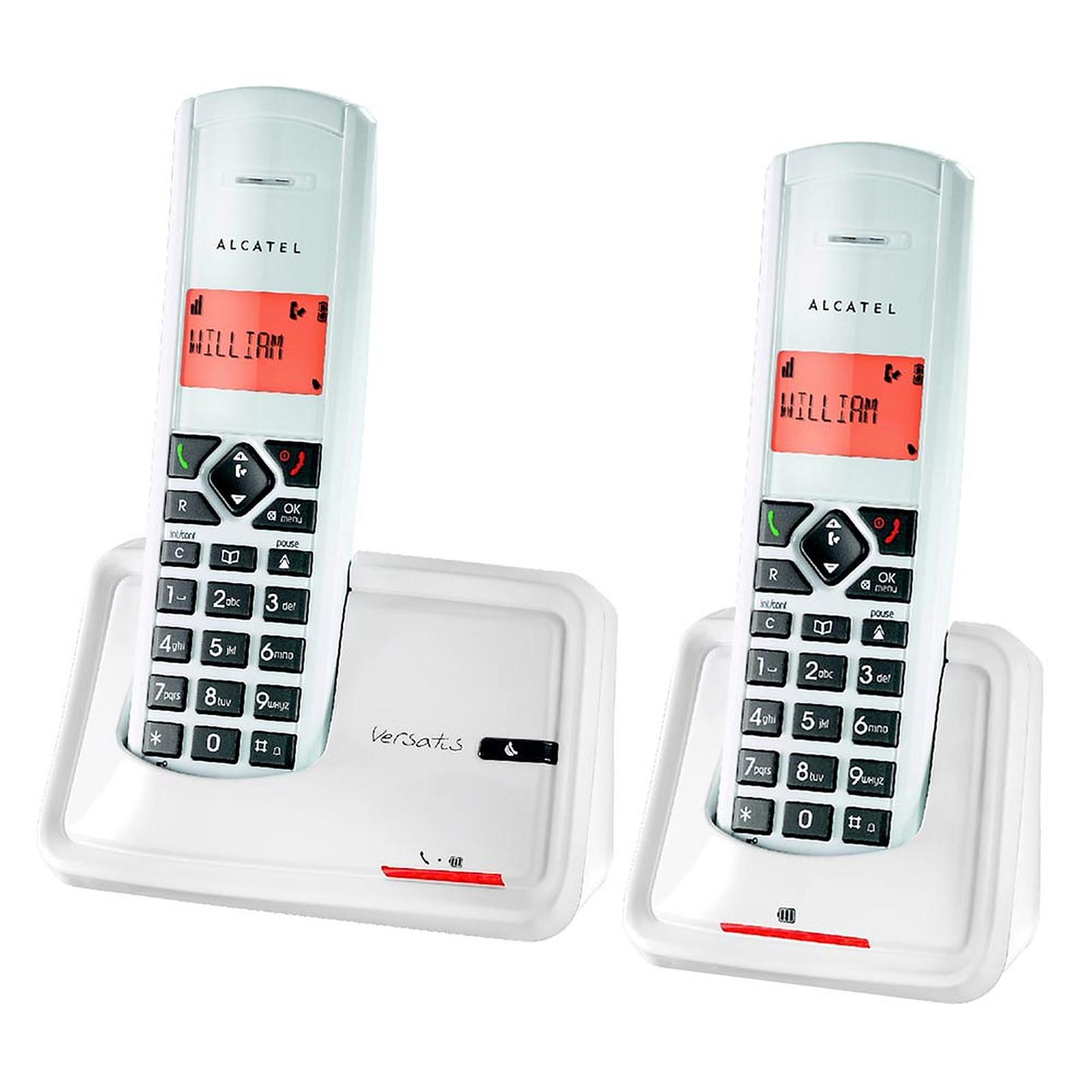 alcatel versatis d150 titane duo t l phone sans fil alcatel sur. Black Bedroom Furniture Sets. Home Design Ideas