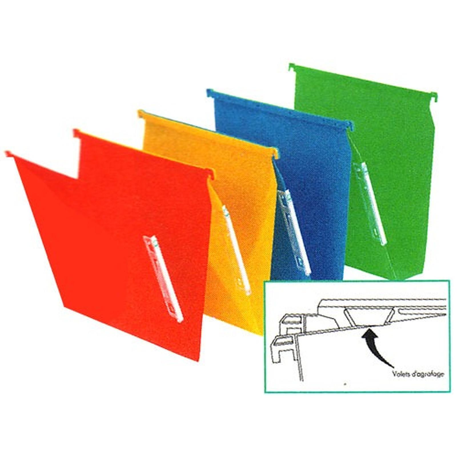 10 Dossiers suspendus fond 15 mm Vert
