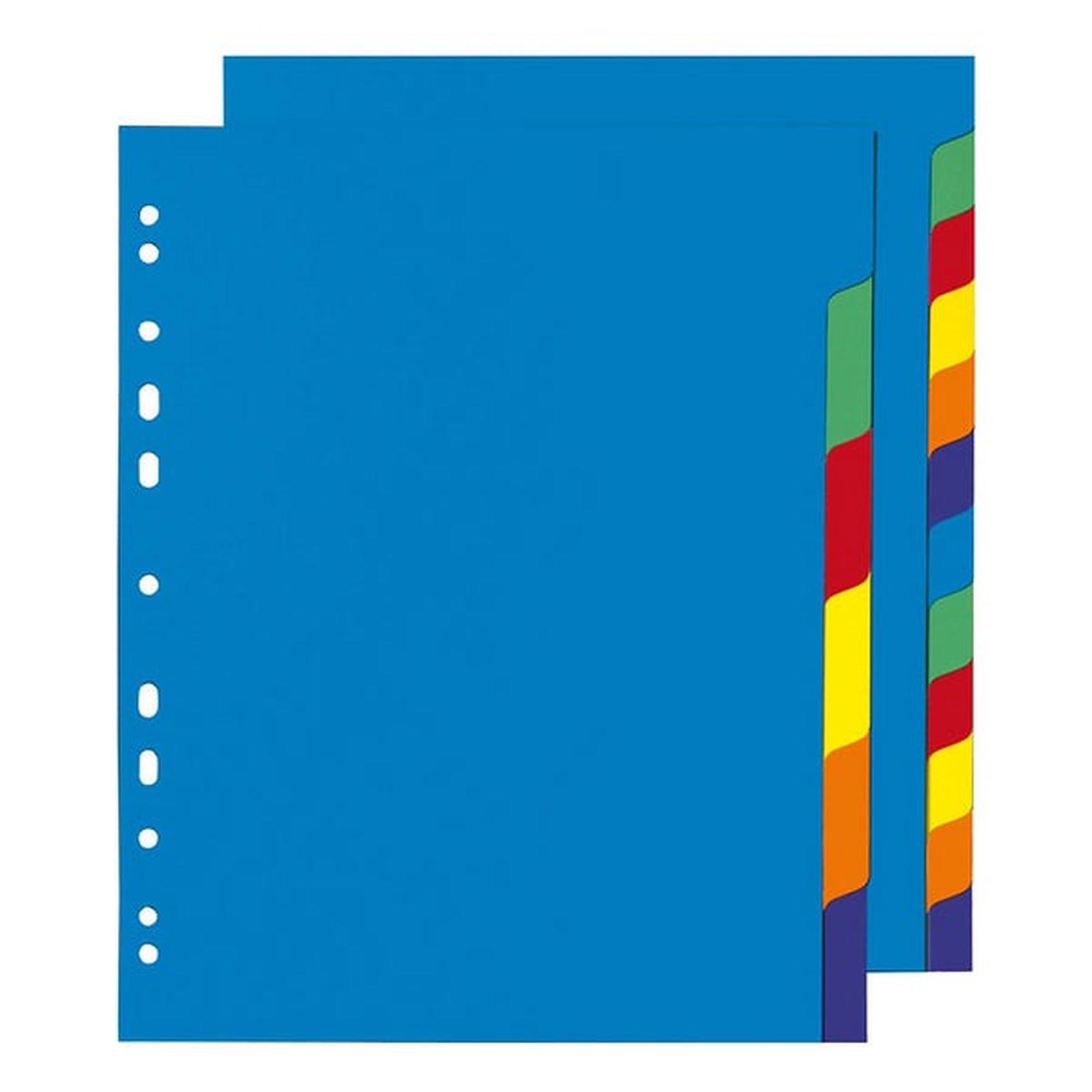 Intercalaires polypropylène Format A4+ 6 positions