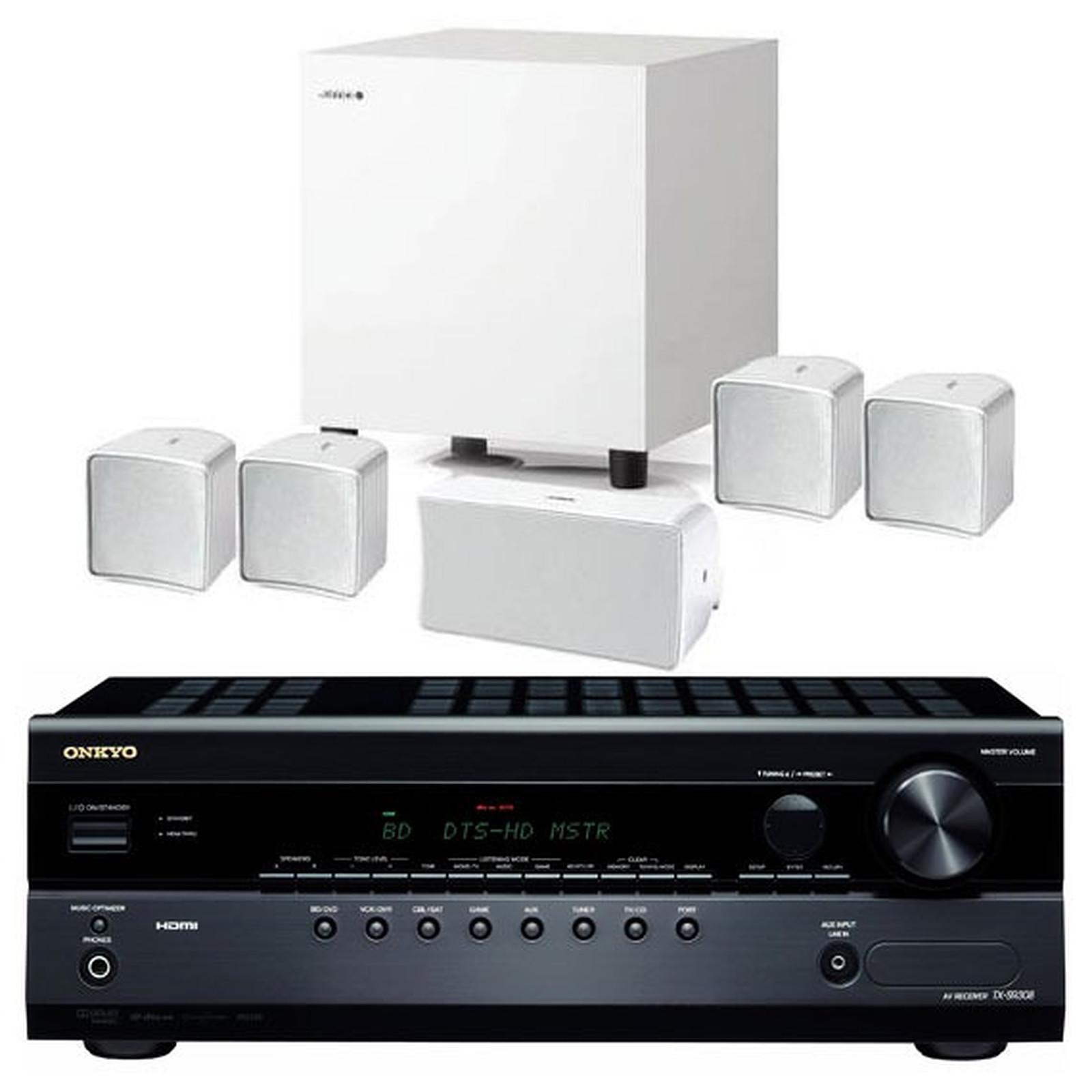 Onkyo TX-SR308 Noir + Jamo A 102 HCS 6 Blanc