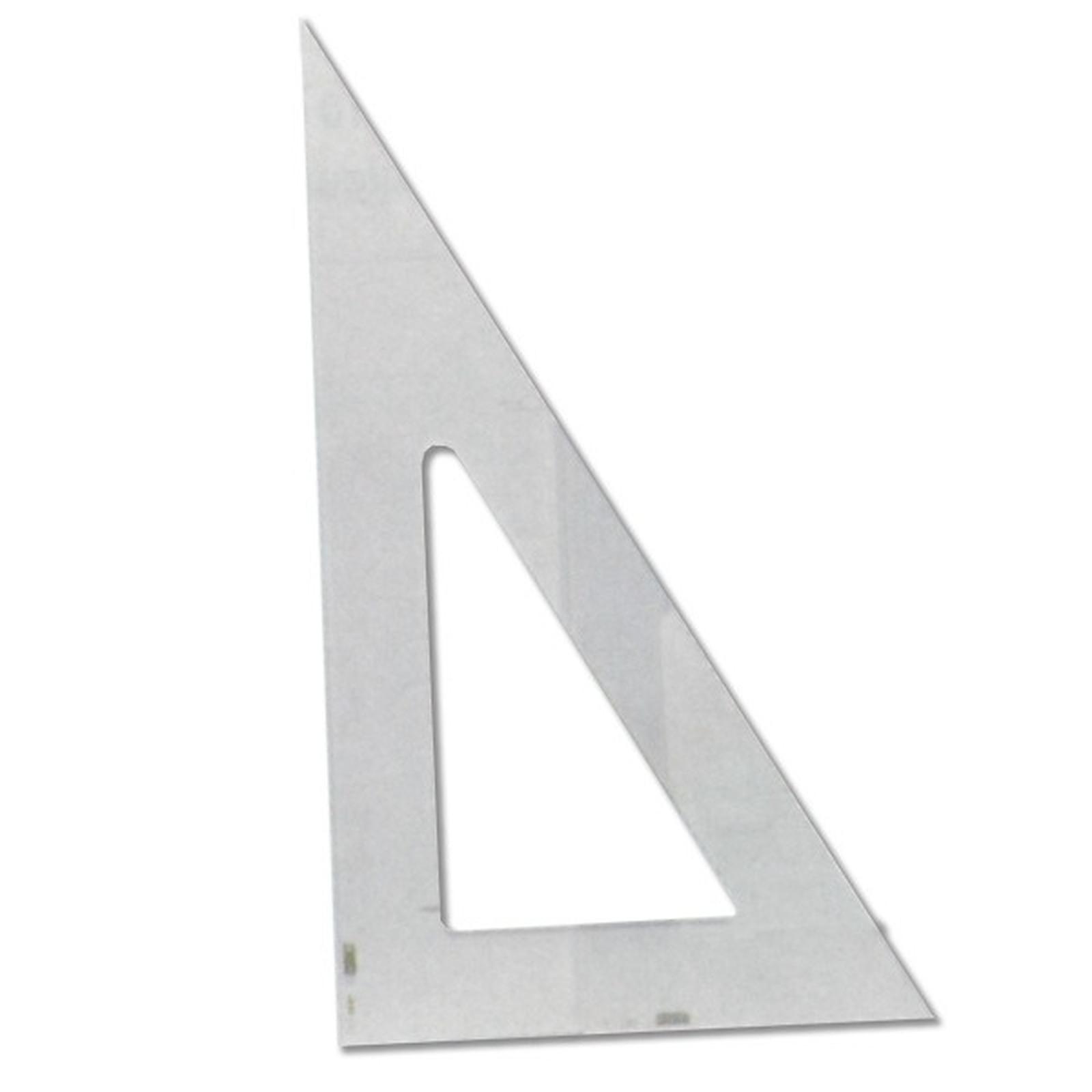 Equerre transparente 25 cm 60°