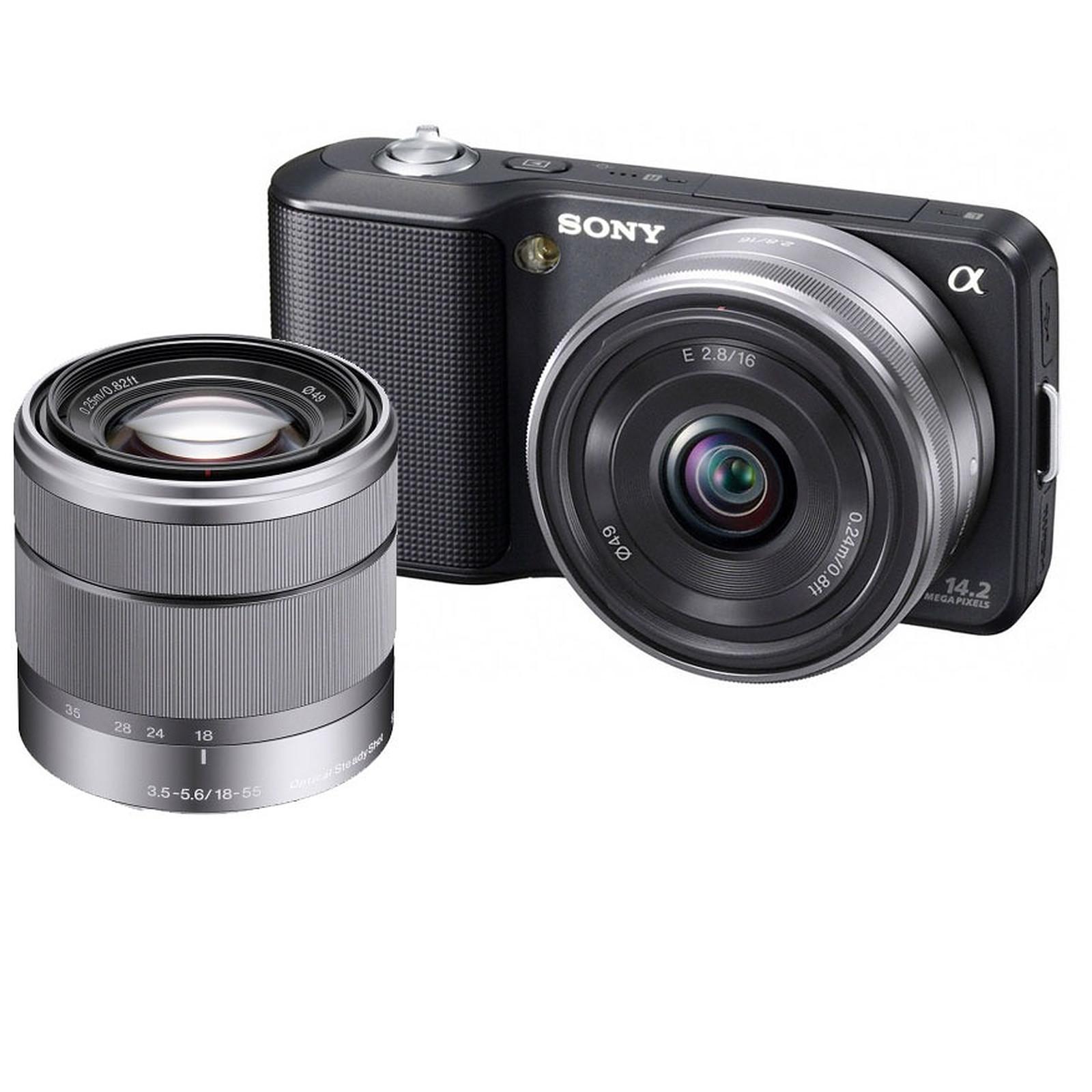 Sony NEX-3 Noir + Objectif 16 mm