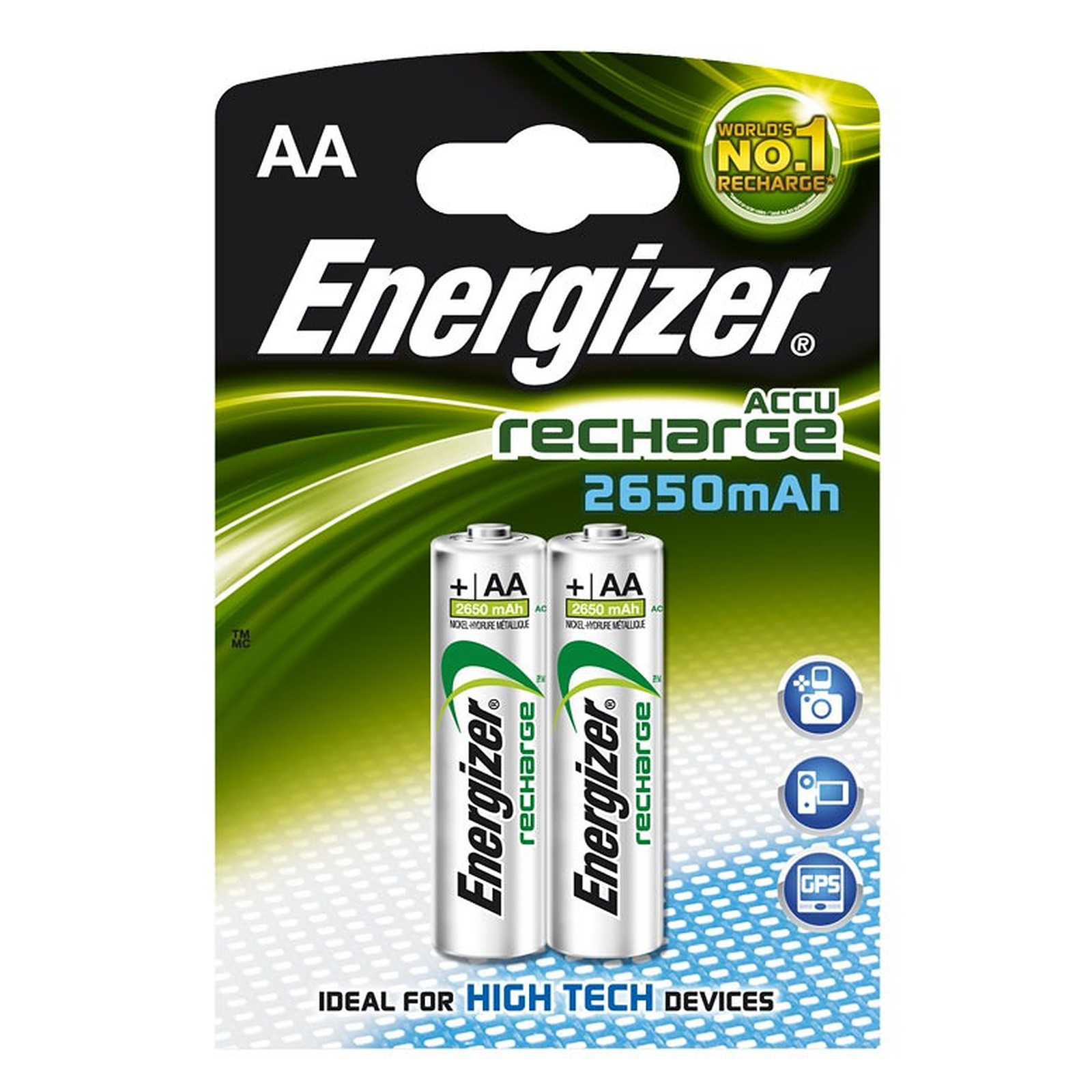 energizer rechargeable 2 piles rechargeables aa hr6 2650. Black Bedroom Furniture Sets. Home Design Ideas