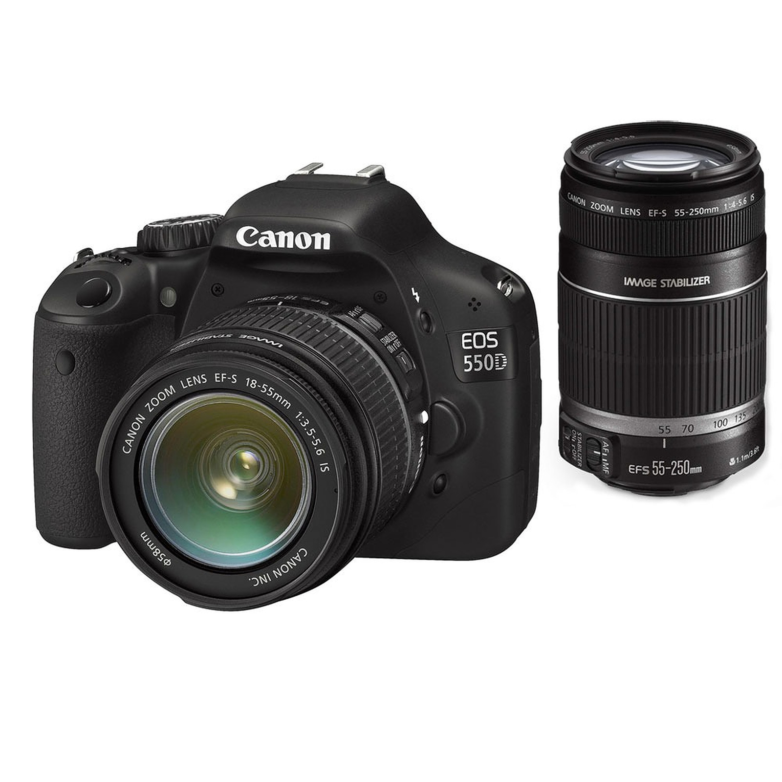 Canon EOS 550D + Objectifs 18-55mm + 55-250 mm