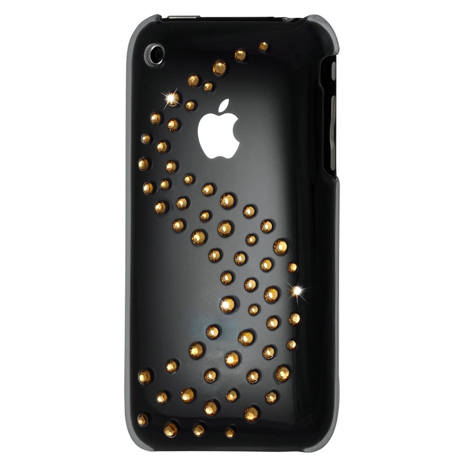 Muvit Coque transparente avec vague de cristaux Swarovski dorés pour iPhone 3G/3GS