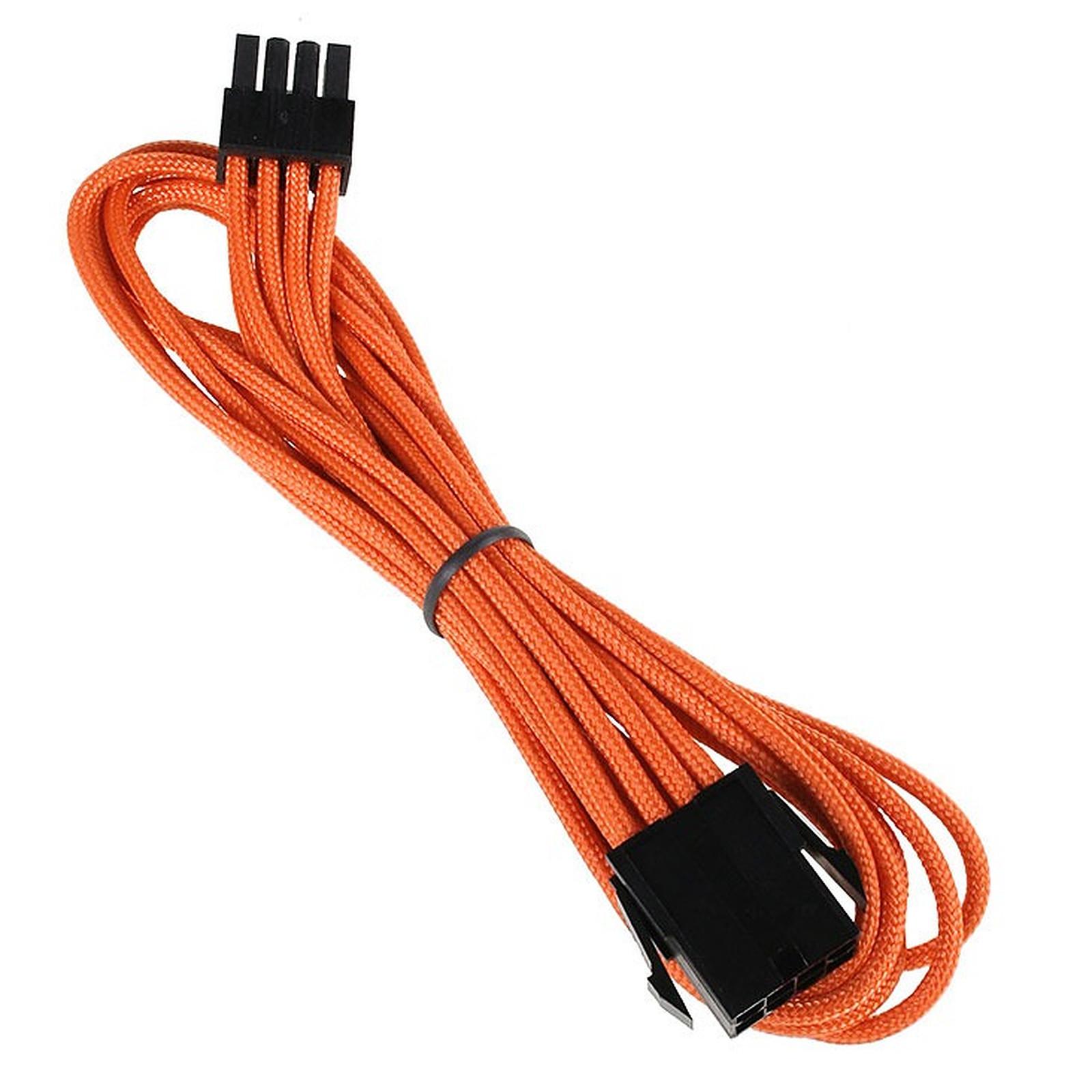 BitFenix Alchemy Orange - Extension d'alimentation gainée - EPS12V 8 pins - 45 cm