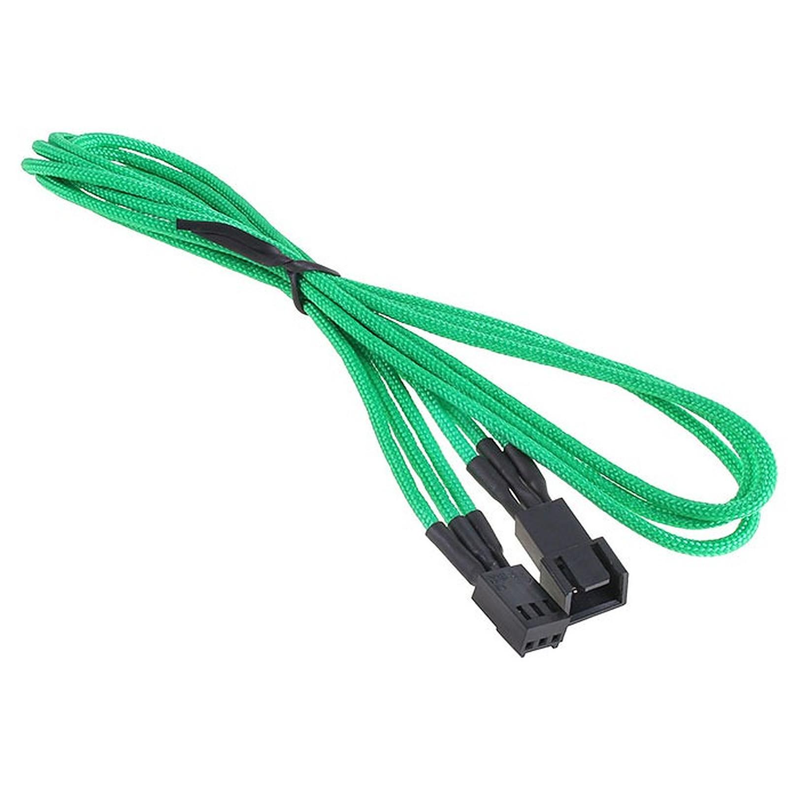 BitFenix Alchemy Green - Extension d'alimentation gainée - 3 pins vers 3 pins - 60 cm