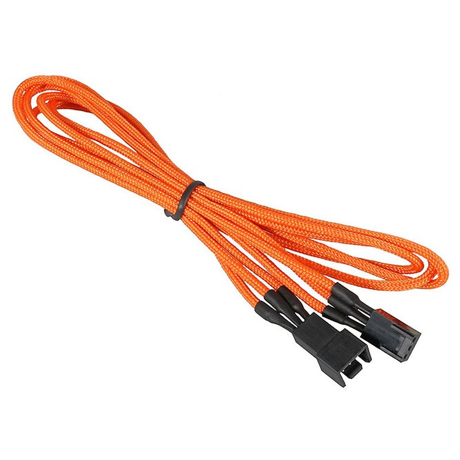 BitFenix Alchemy Orange - Extension d'alimentation gainée - 3 pins vers 3 pins - 60 cm
