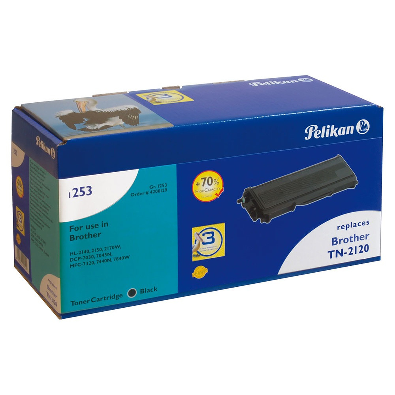 Pelikan toner compatible TN-2120 (Noir) + PeliCARE