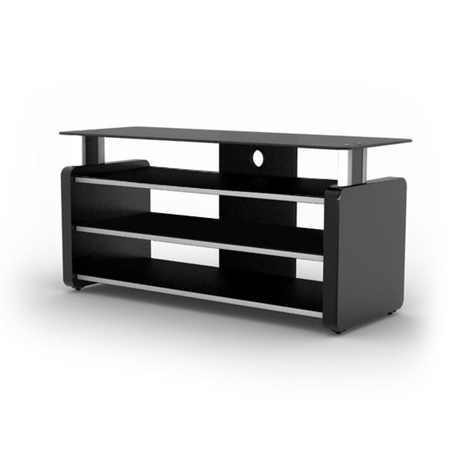 Elmob aura au 105 02 noir meuble tv elmob sur - Meuble tv pour home cinema ...