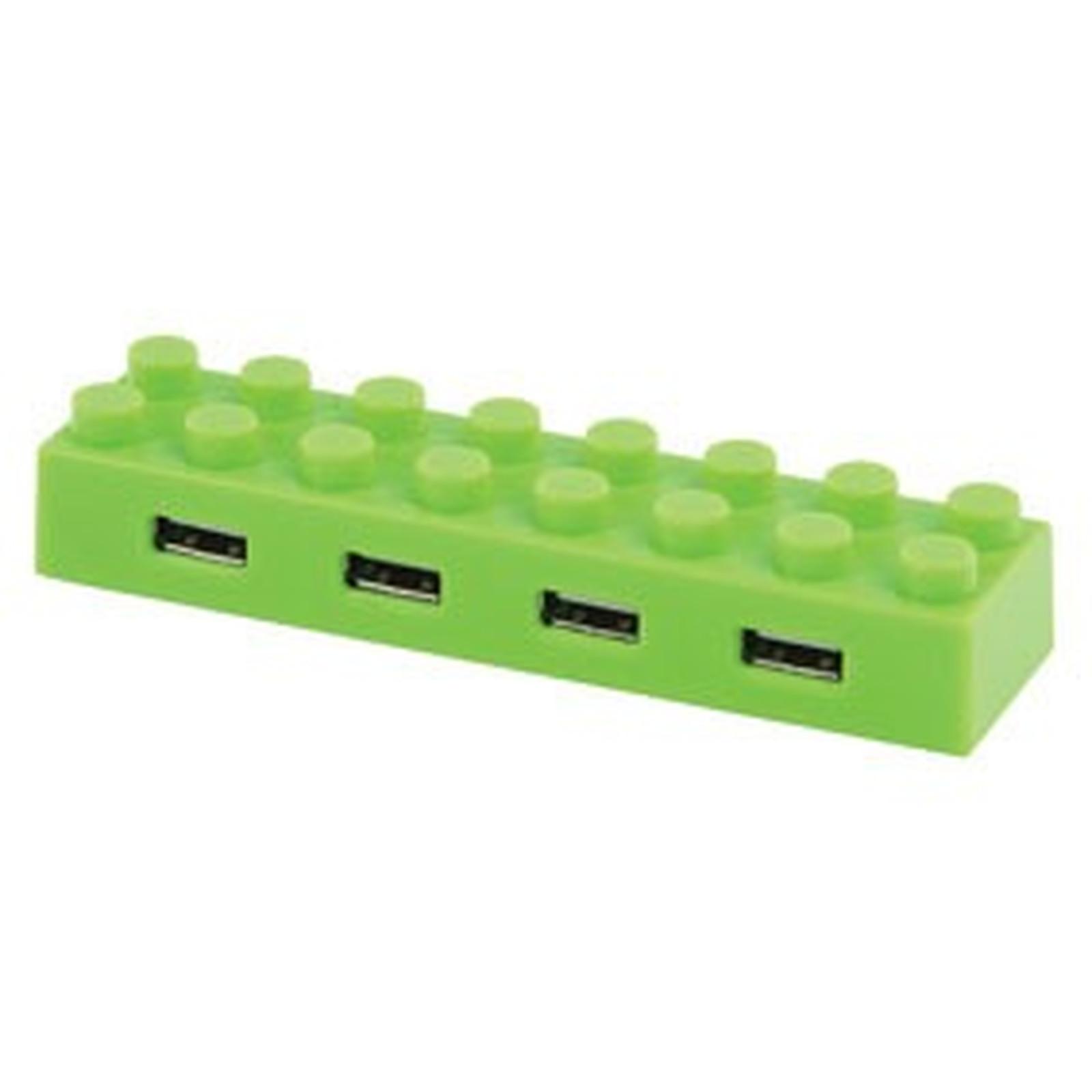 """Hub """"block"""" 4 ports USB 2.0 (coloris vert)"""