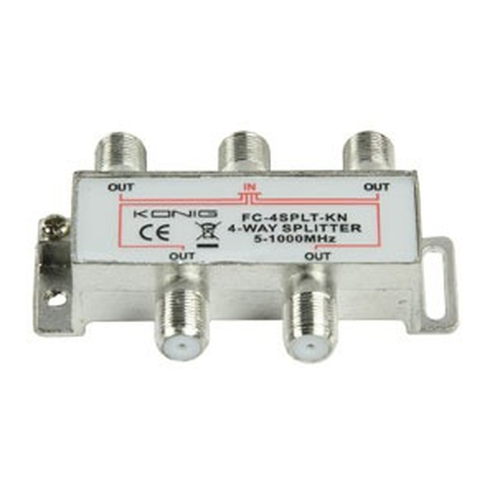 Répartiteur coaxial 4 voies Type F