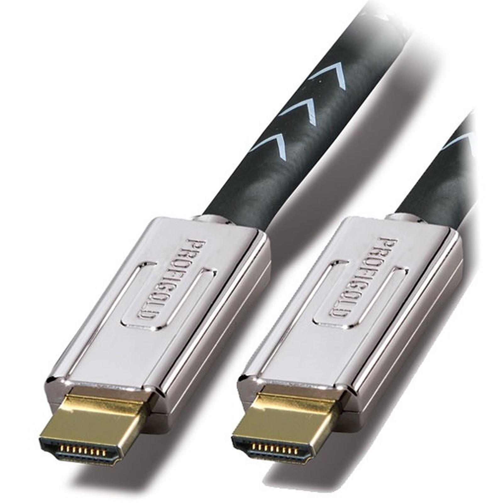 Oxypure OXYV1202 - Câble HDMI 1.4 High Speed mâle / mâle (2 mètres)