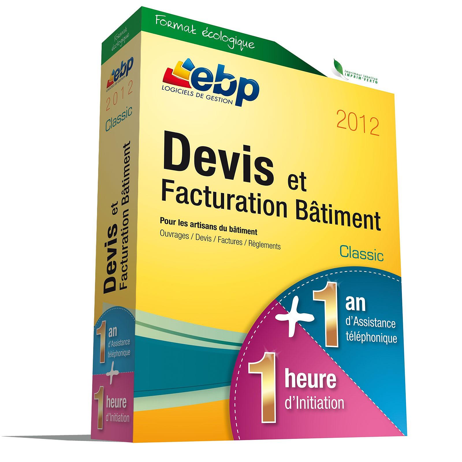 EBP Devis et Facturation Bâtiment Classic 2012 + Services VIP