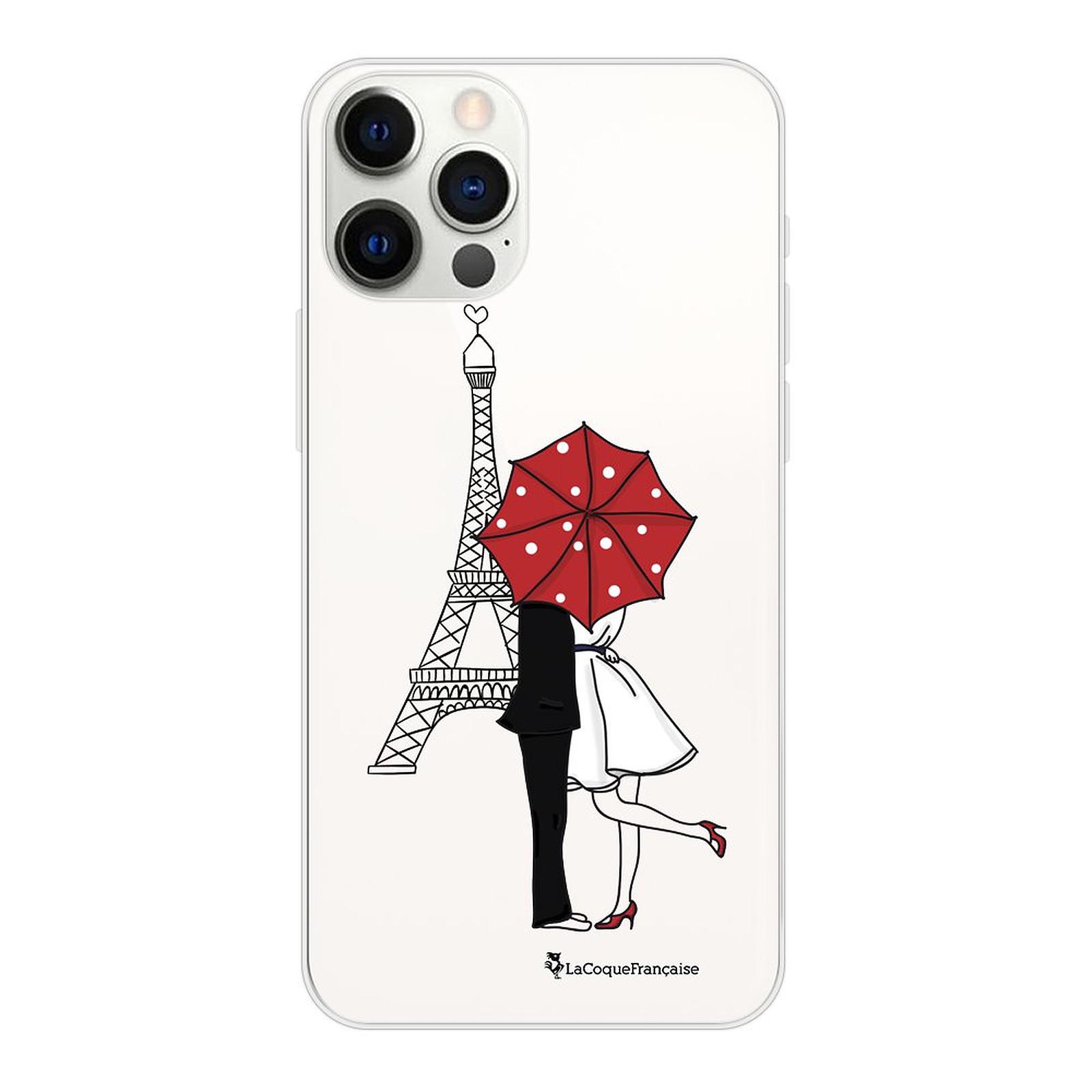 LA COQUE FRANCAISE Coque iPhone 12/12 Pro souple transparente Amour à Paris