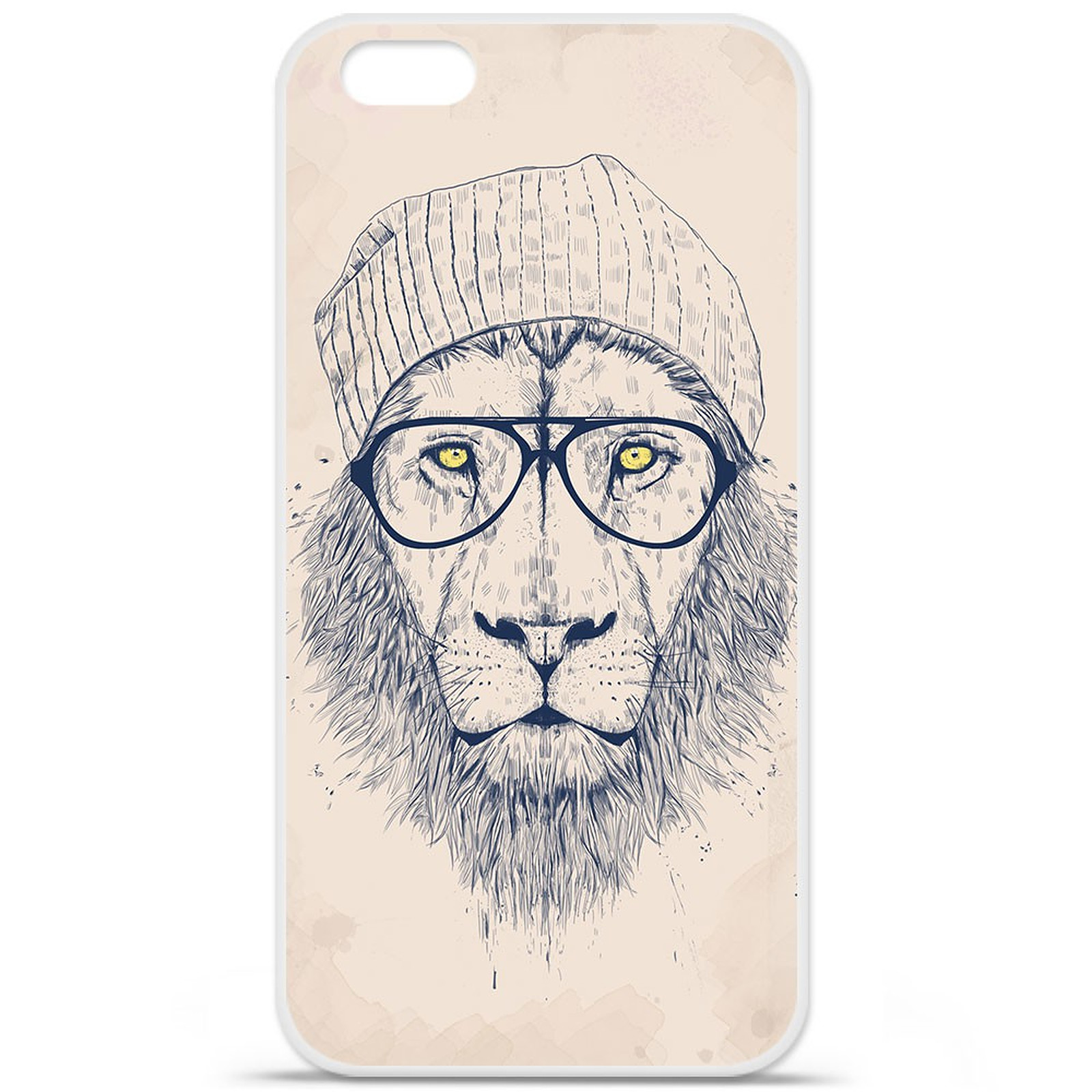 1001 Coques Coque silicone gel Apple IPhone 7 Plus motif BS Cool Lion