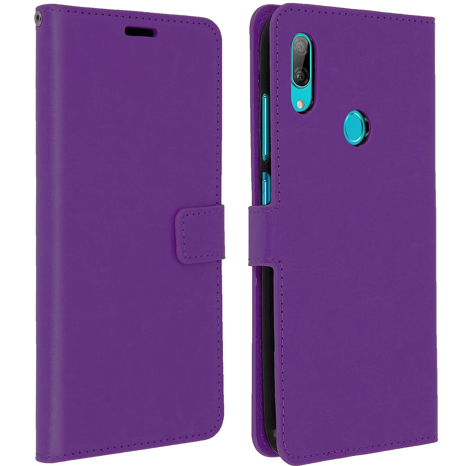 Avizar Etui folio Violet pour Huawei Y7 2019