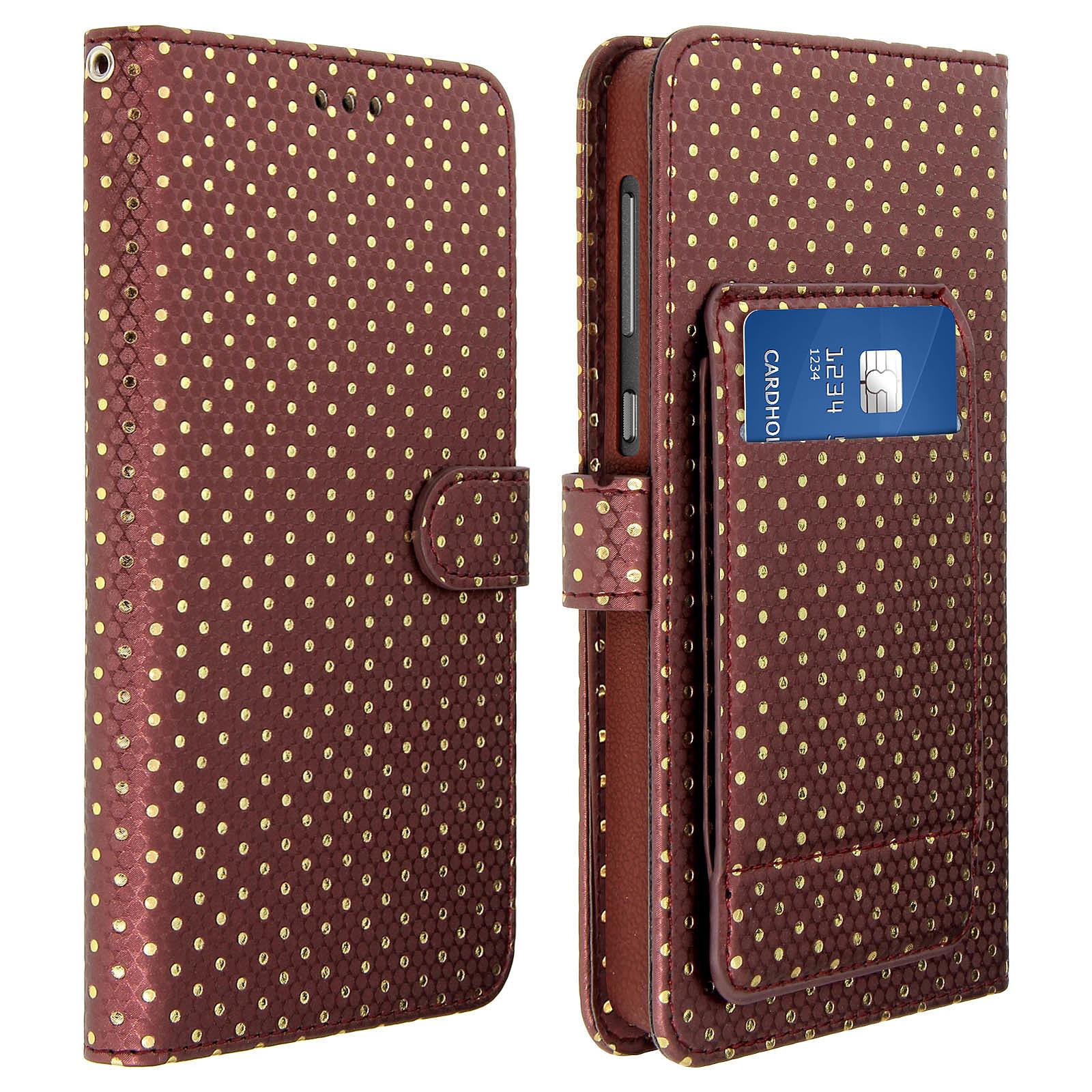 Avizar Etui folio Marron pour Smartphones de 5.0' à 5.3'